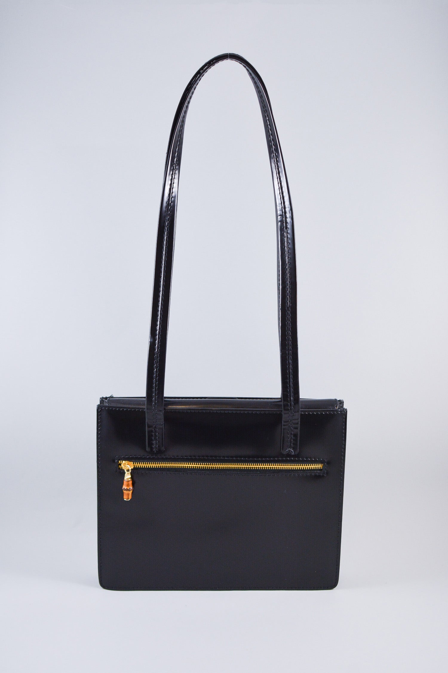 Gucci Black Small Leather Shoulder Tote