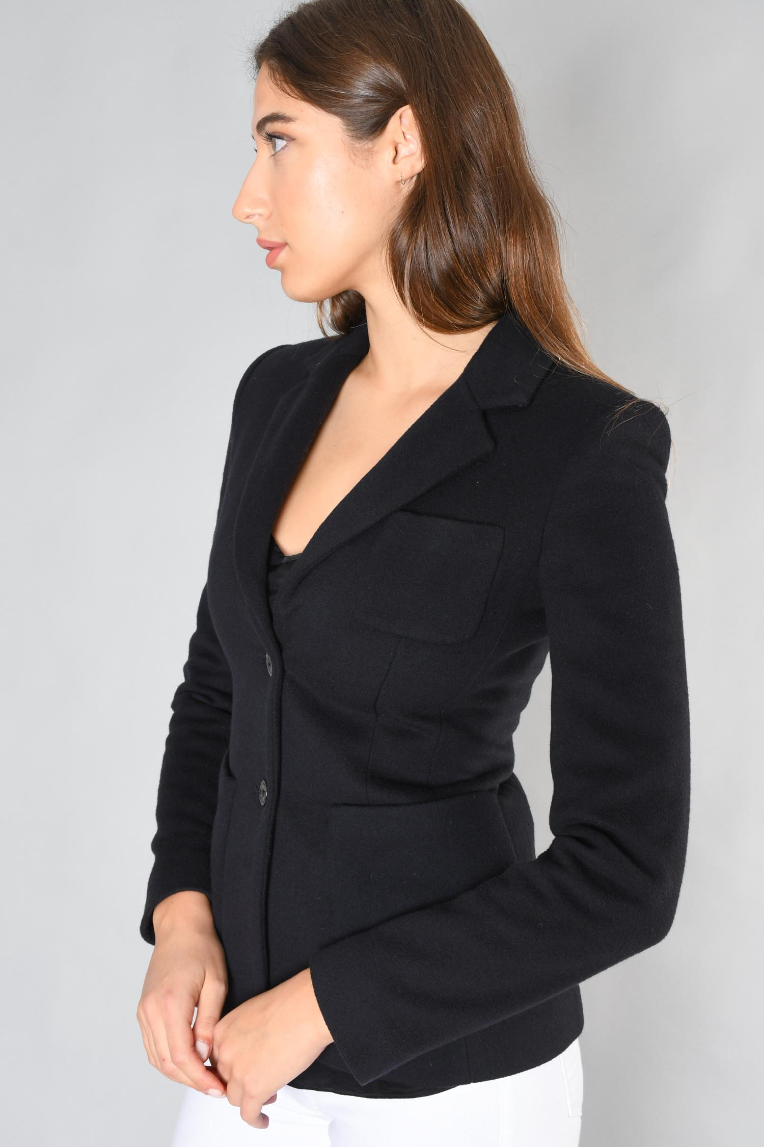 The Row Navy Wool Jacket Size 2