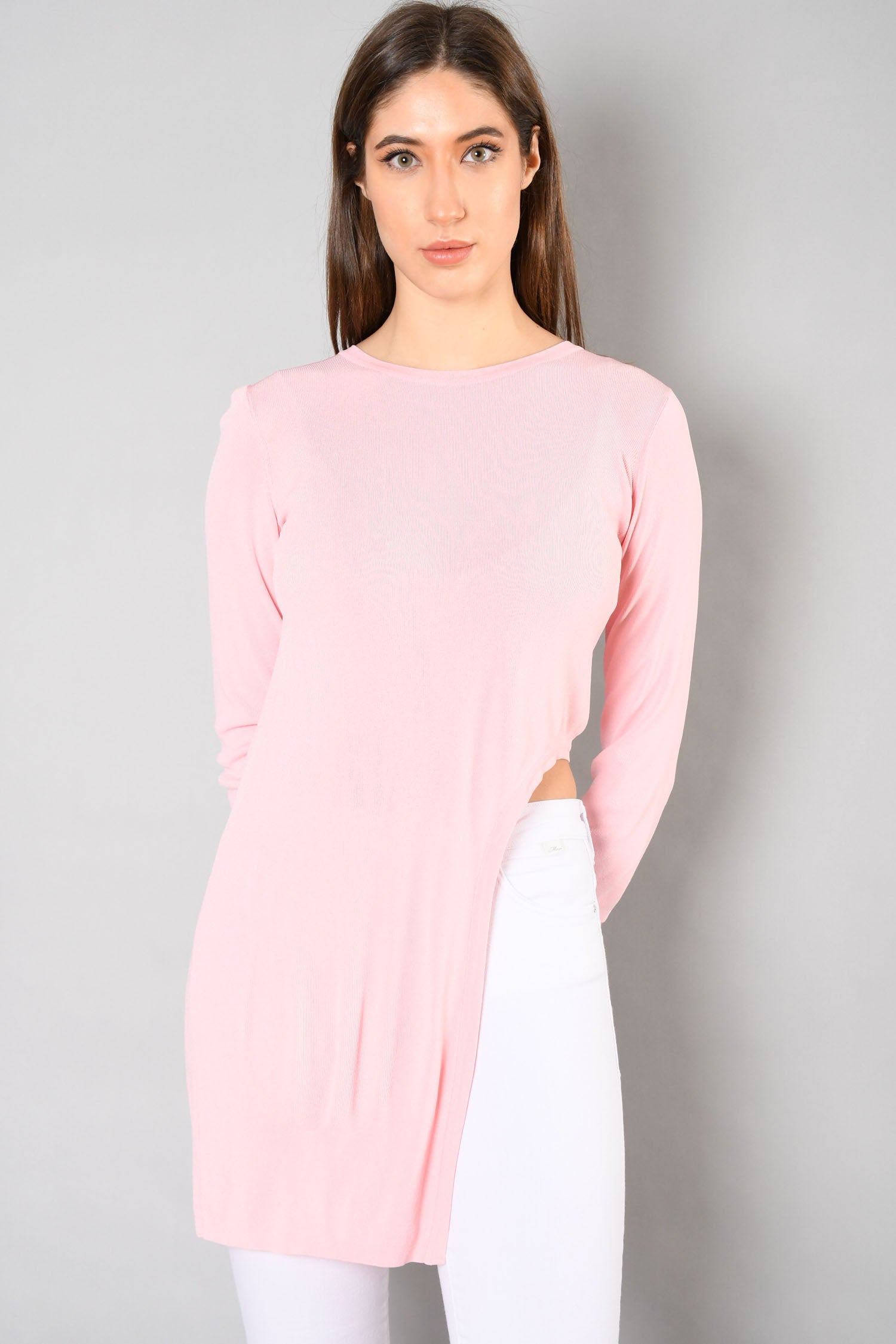 Chanel Baby Pink Asymmetrical Top Size 38