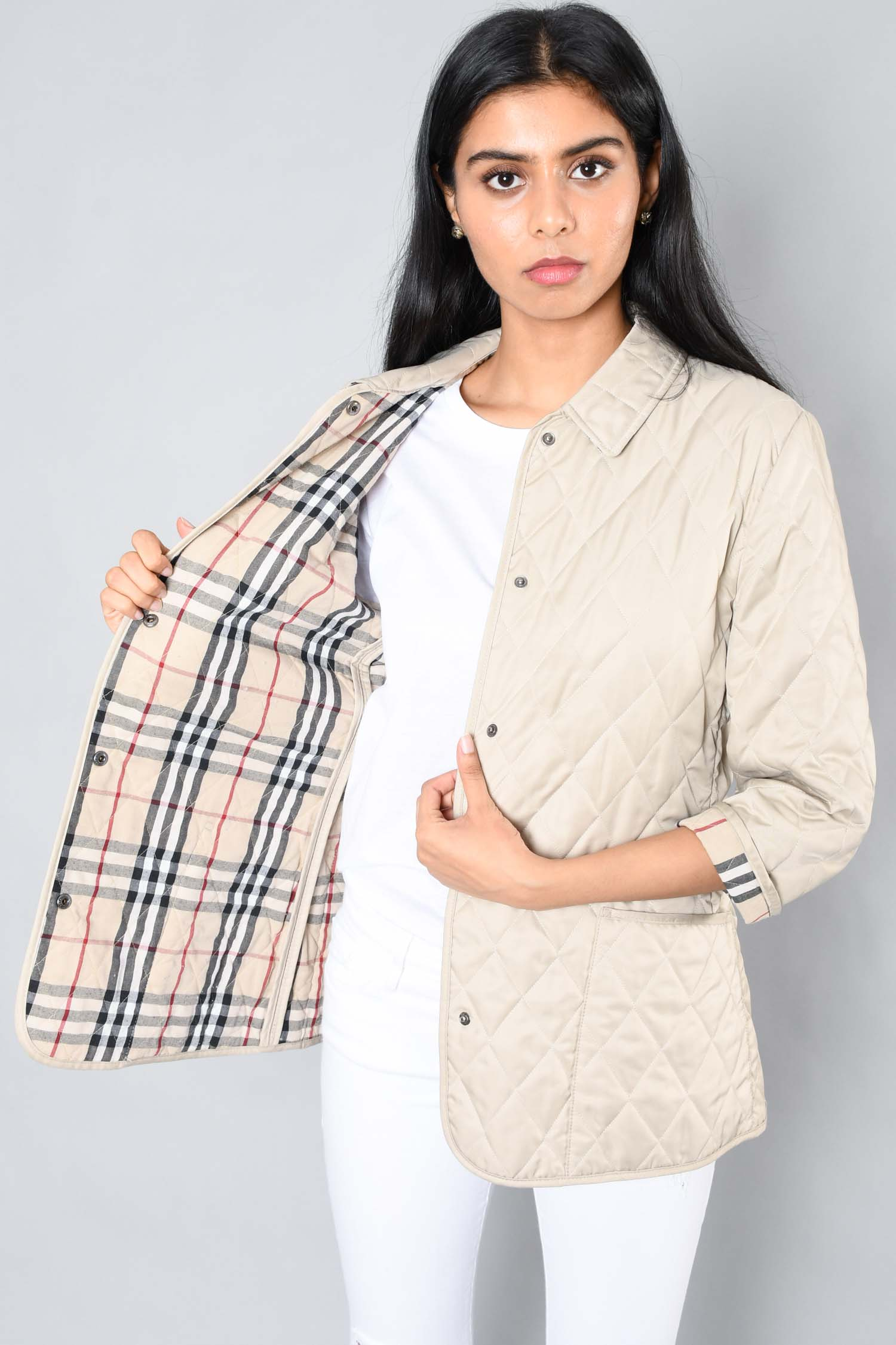 Burberry London Beige Quilted Jacket