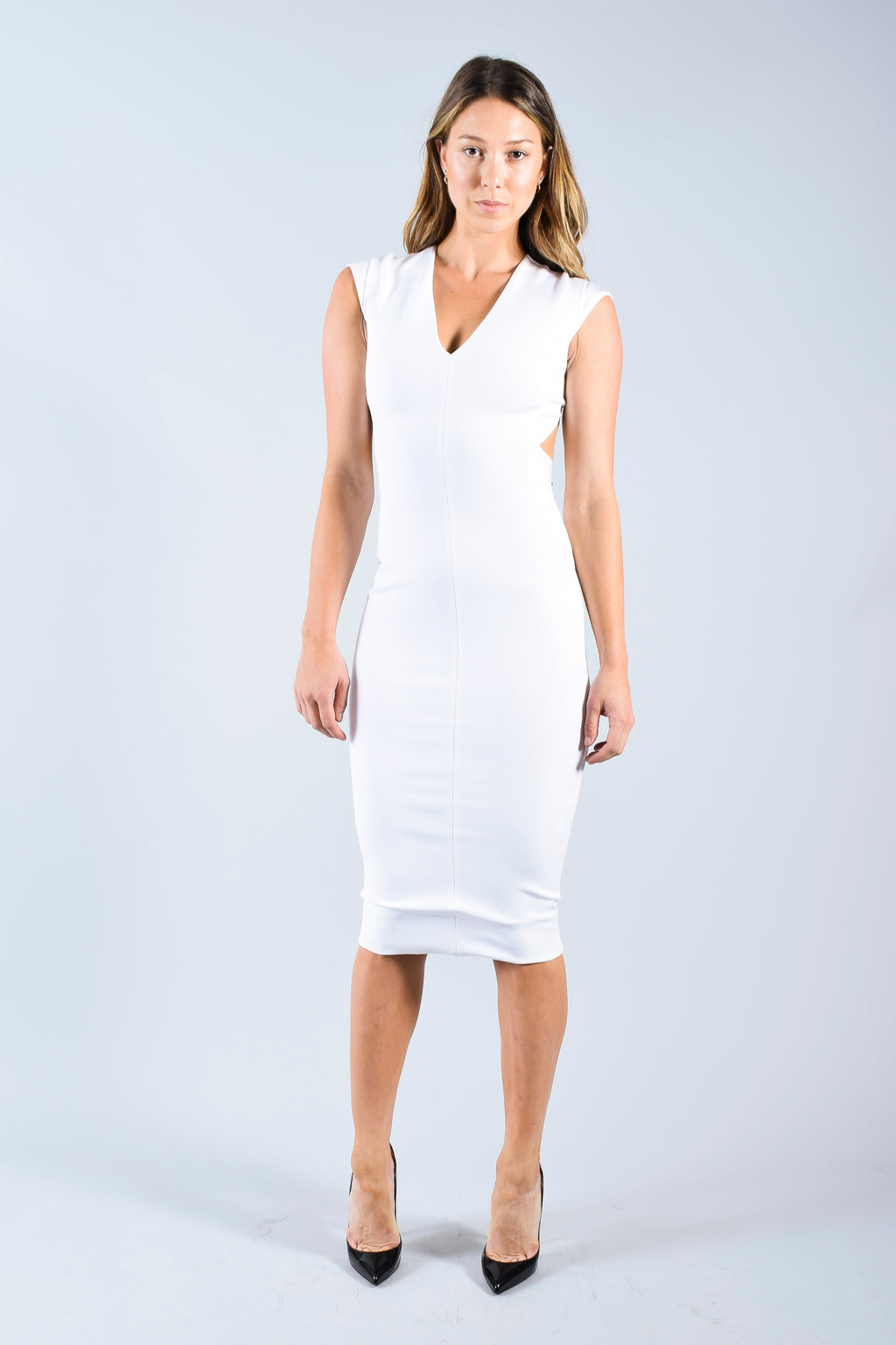 Victoria Beckham White Backless Dress Size 6