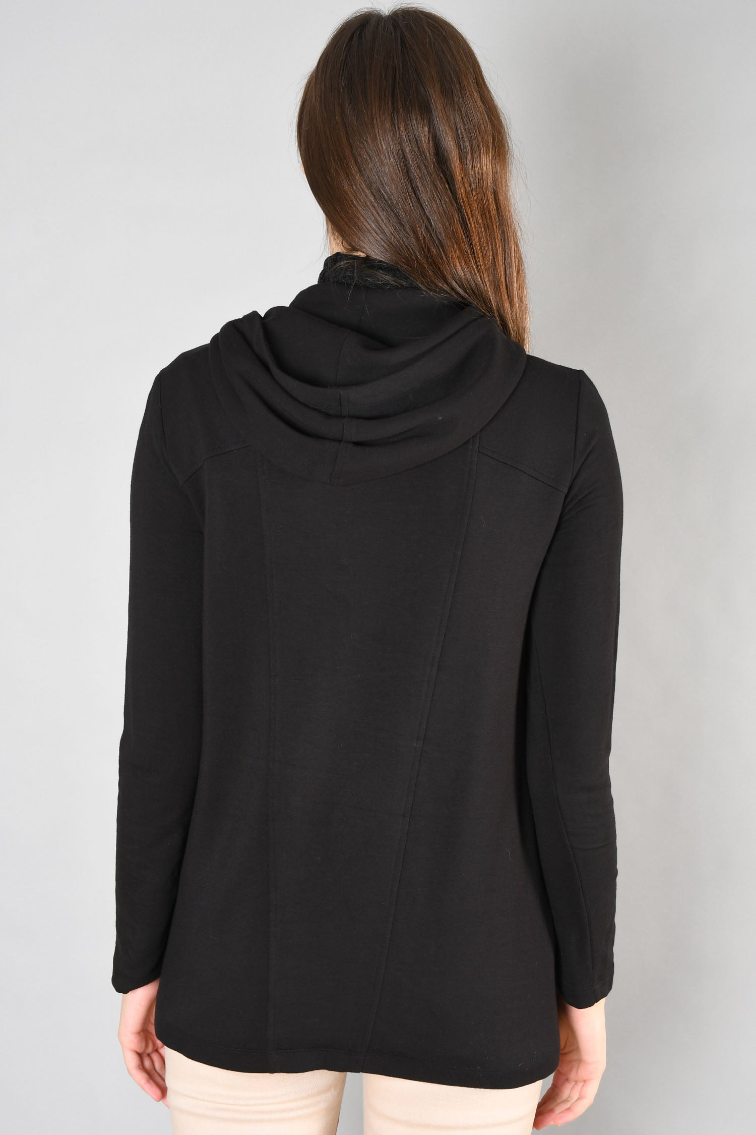 Helmut Lang Black Asymmetrical Zip Up Hoodie Size S
