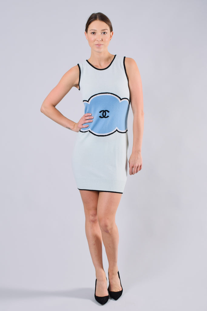 Chanel Light Blue Cashmere Tank Dress sz 38