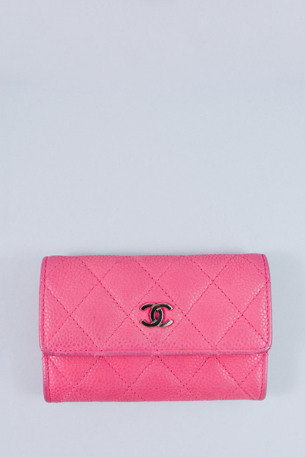Chanel Pink Quilted Business Card Holder