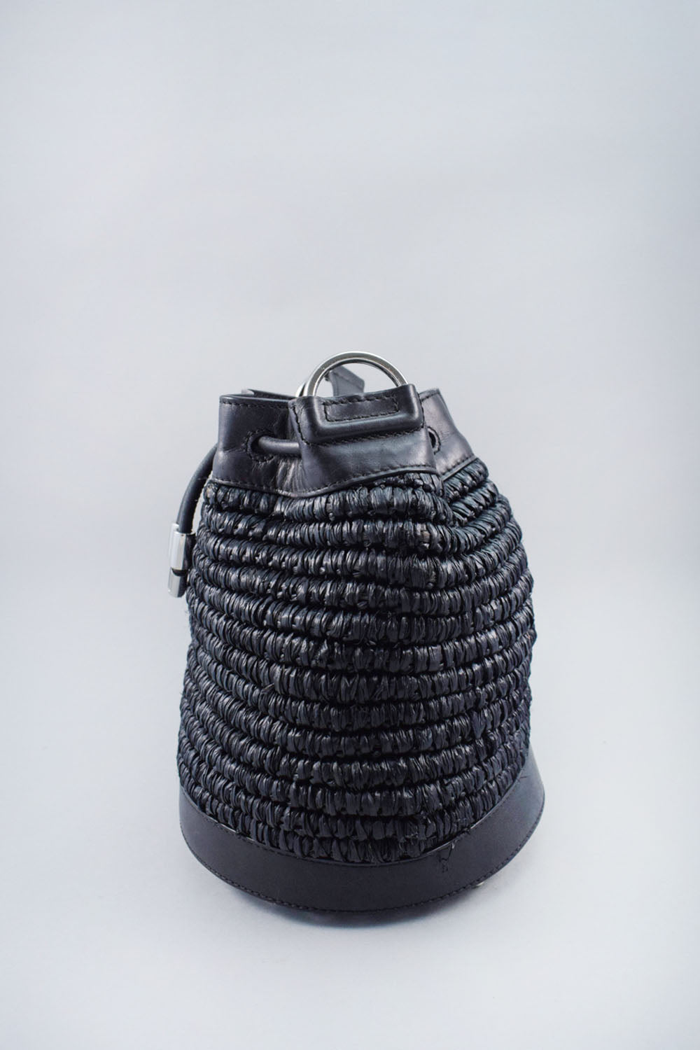 Alexander Wang Black Woven Bucket Bag Crossbody