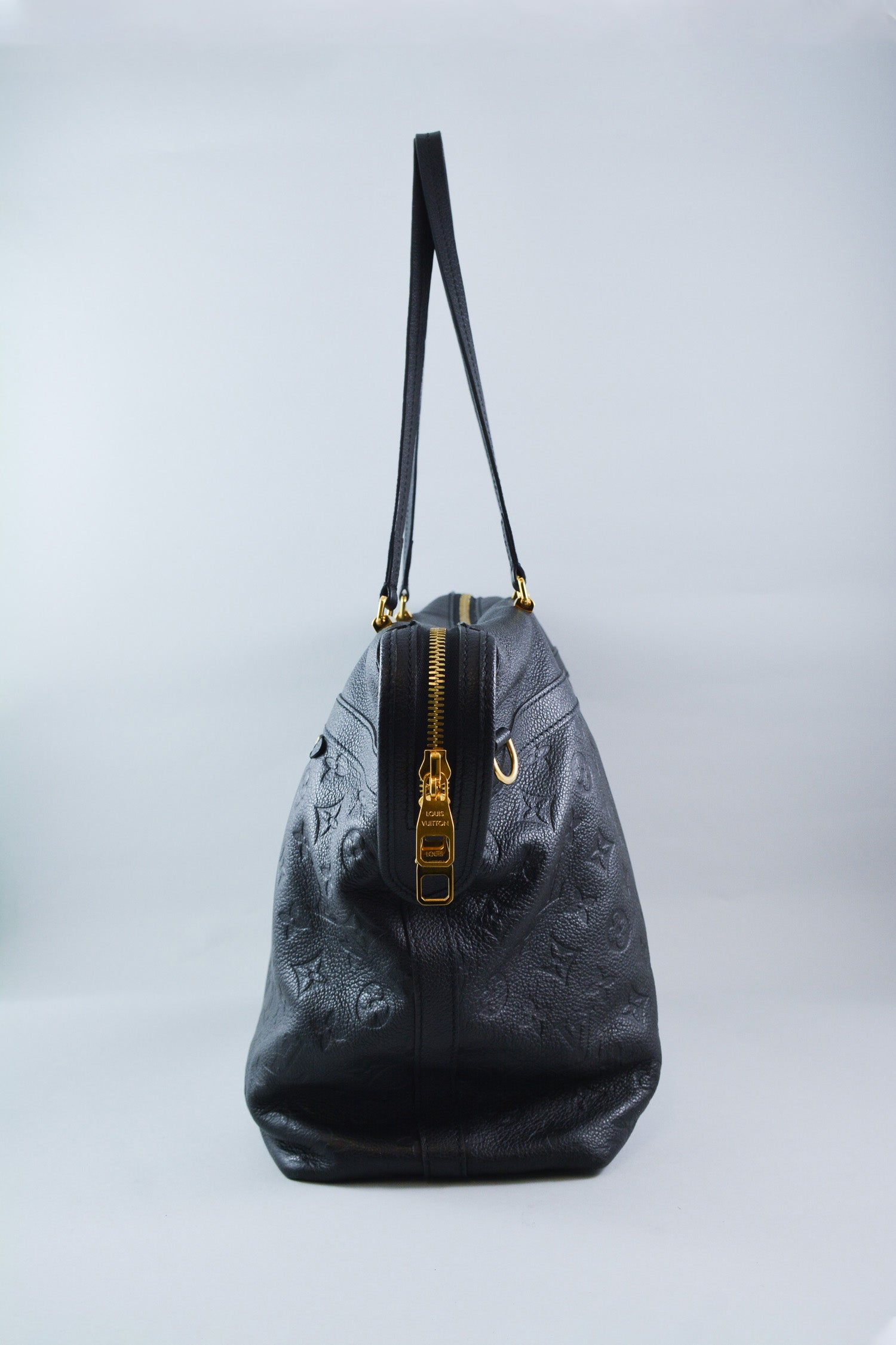 Louis Vuitton Black Leather Monogram Empreinte Inspiree Bag