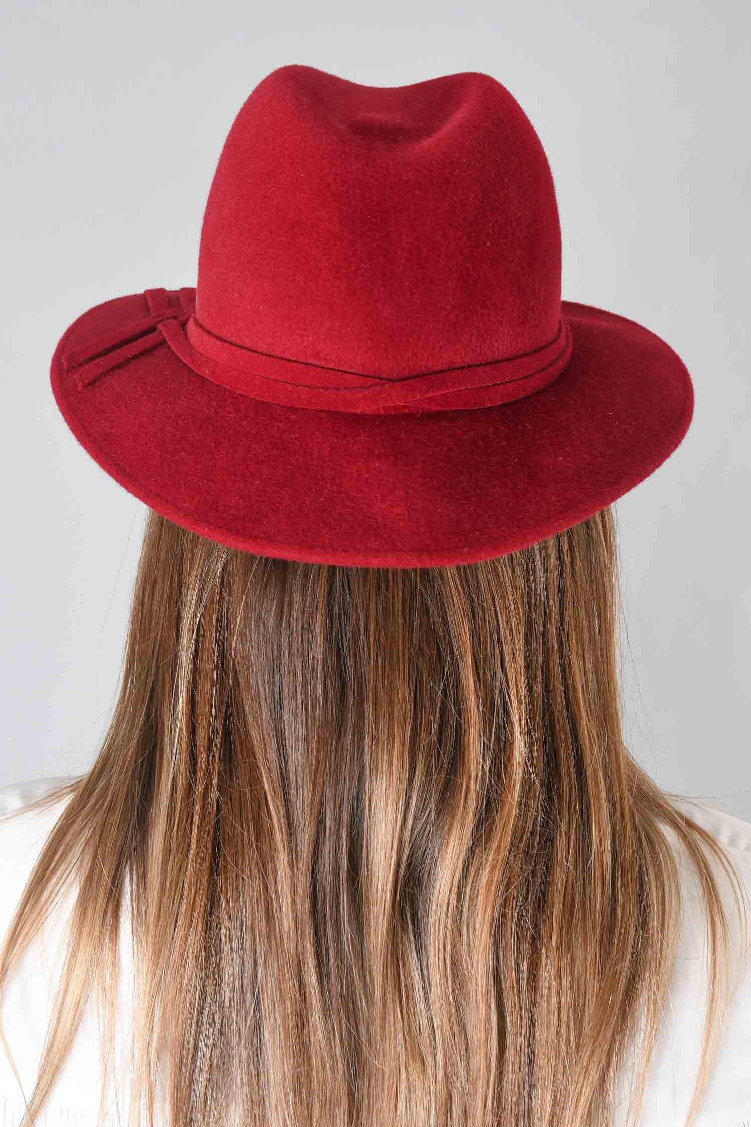 Celine Robert Red Fur Felt Hat