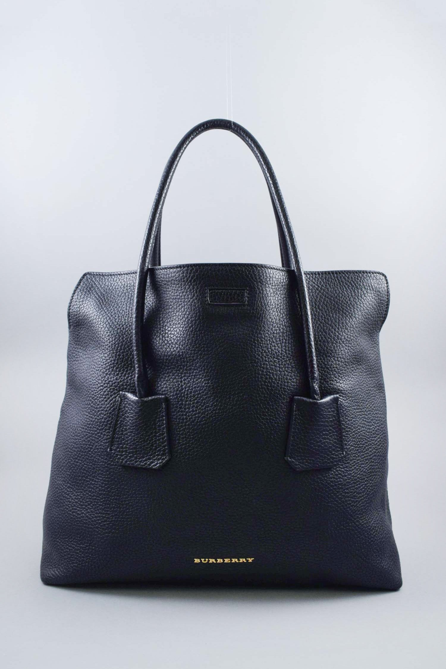 Burberry Black Pebbled Leather Baynard Tote
