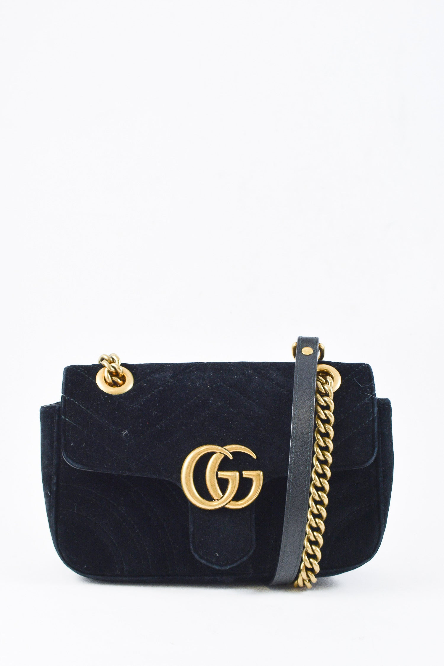 7fcf03dcec709 Gucci GG Black Velvet Marmon Matelass eacute  Mini – Mine   Yours ...