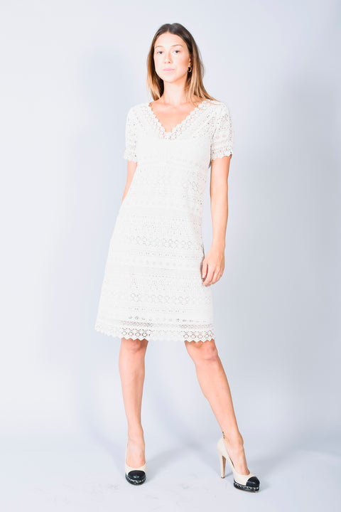 Weekend Max Mara Cream Lace Dress