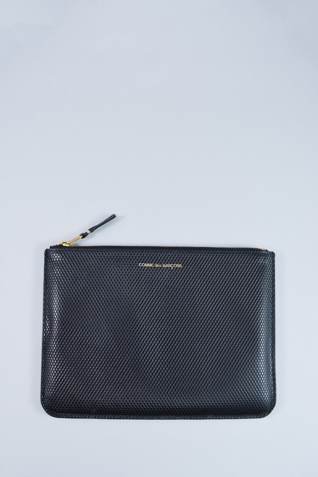 Comme des Garcon Embossed Leather Zip Pouch
