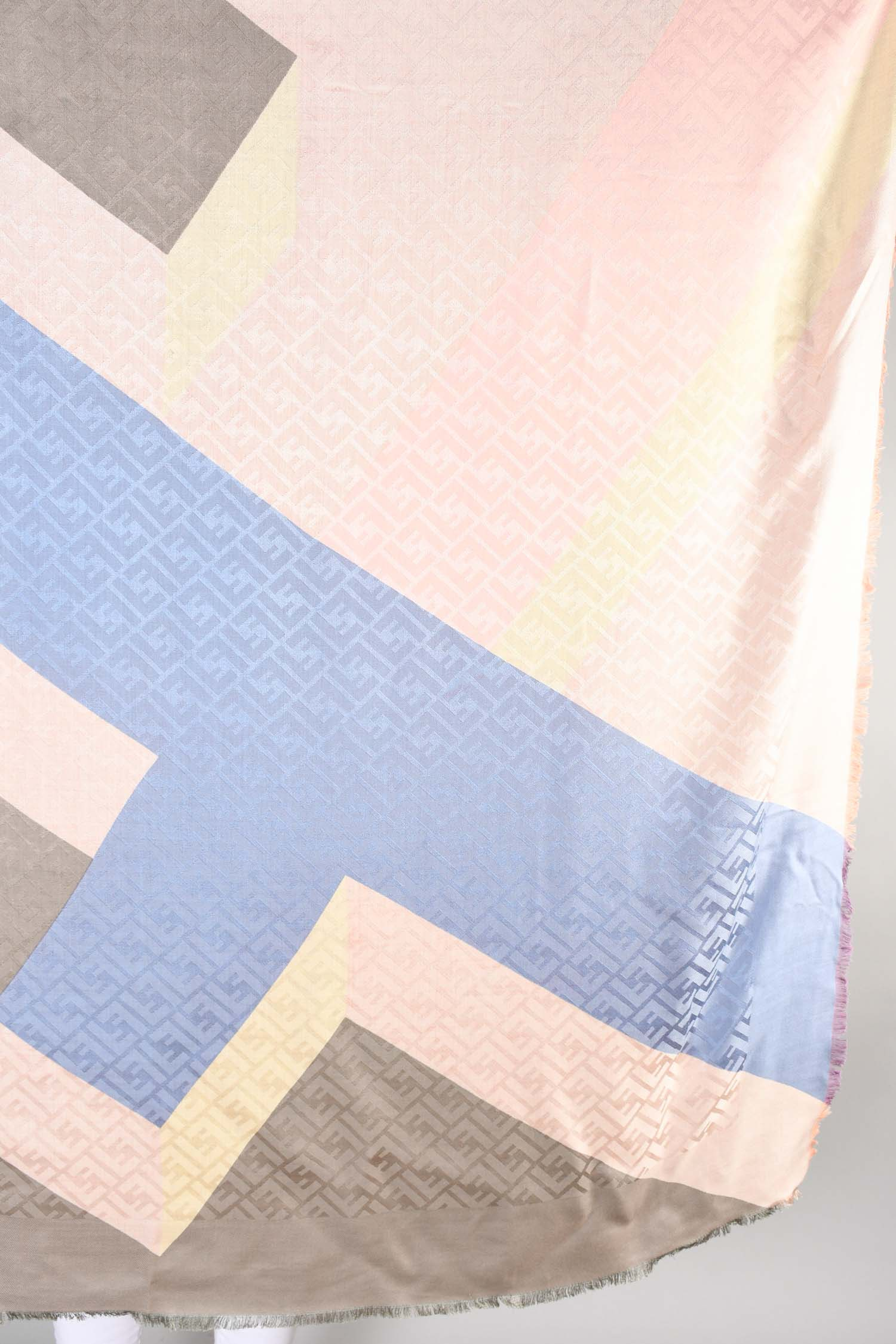 Fendi Multicolour Monogram Silk/Wool Scarf