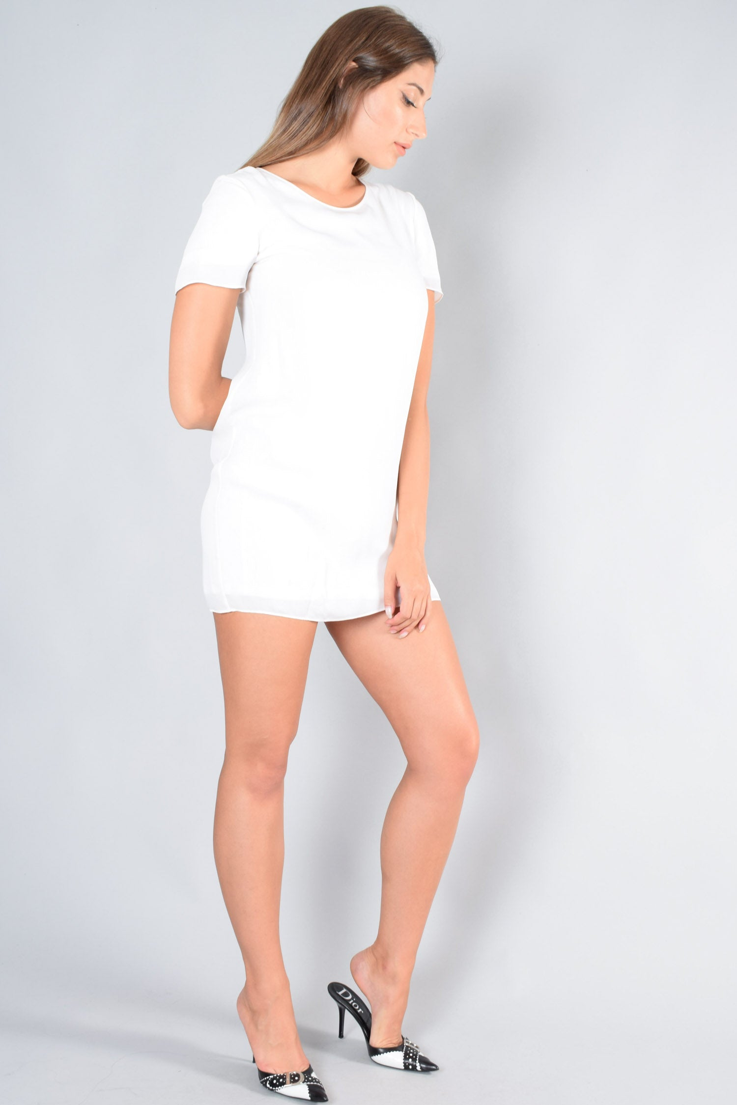 T by Alexander Wang White S/S Dress Size XS