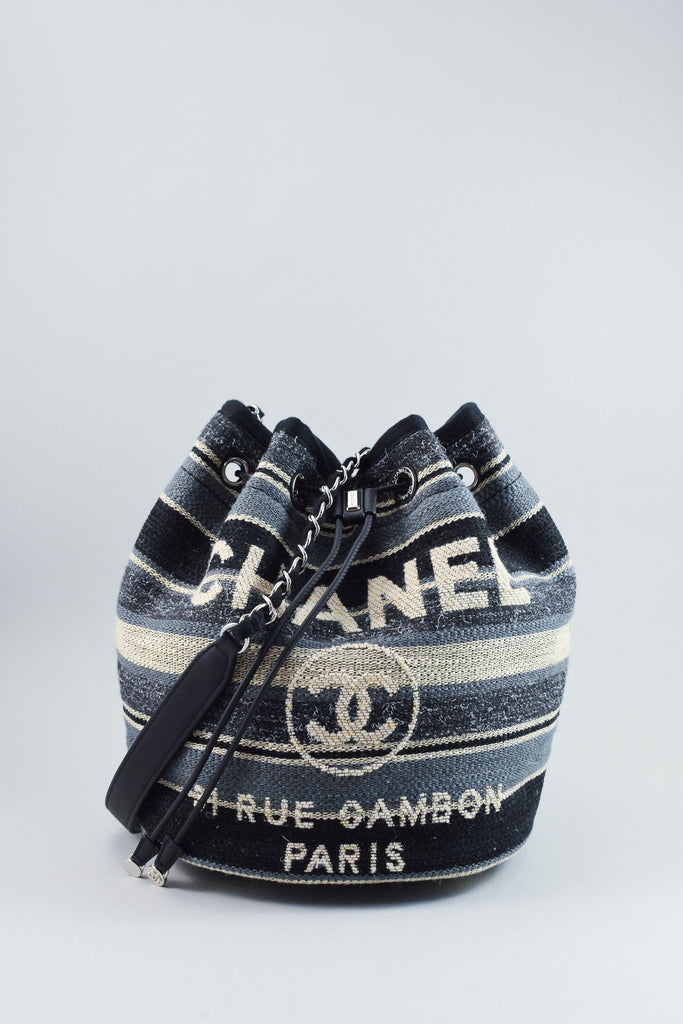 Chanel Canvas Bucket Bag