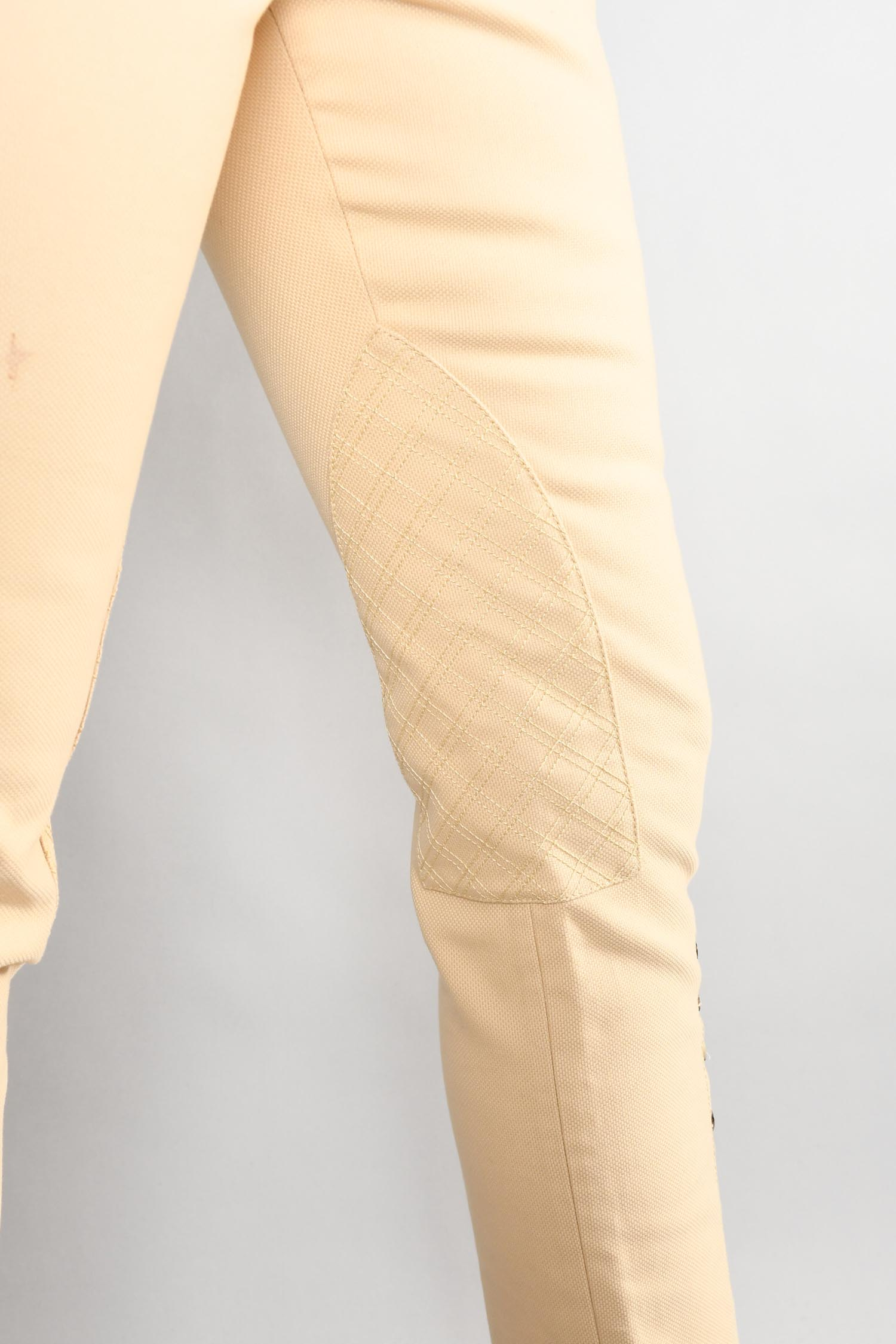 Hermes Cream Cotton Pants w/ Buttoned Cuffs Size 36
