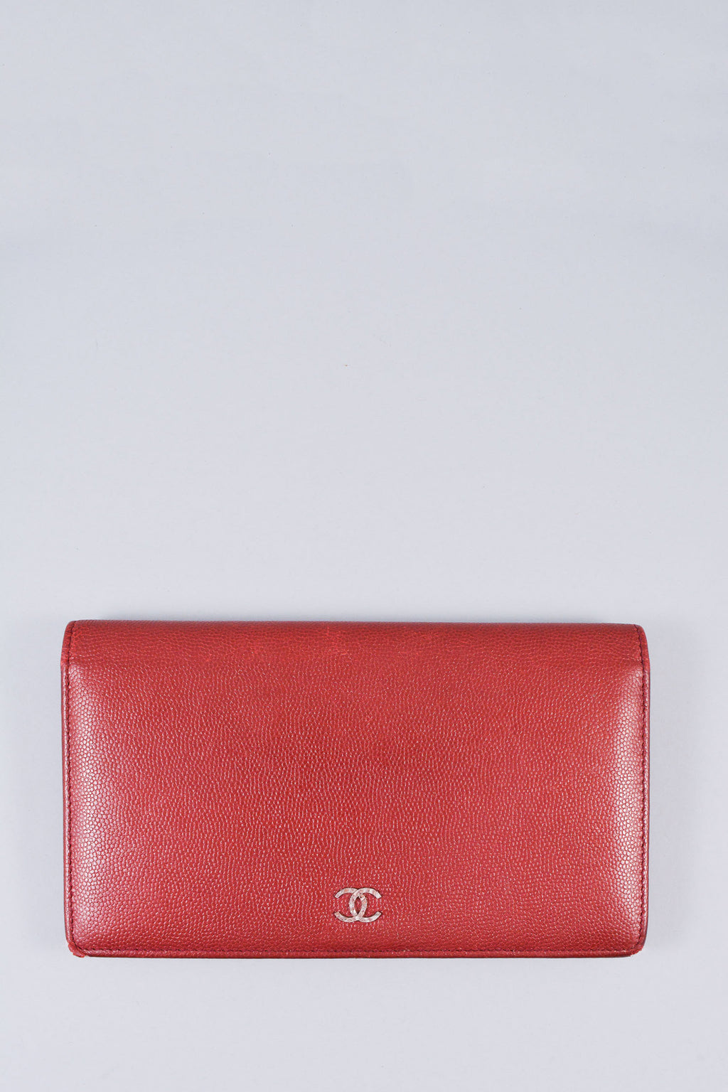 Chanel Brick Red Bifold Wallet