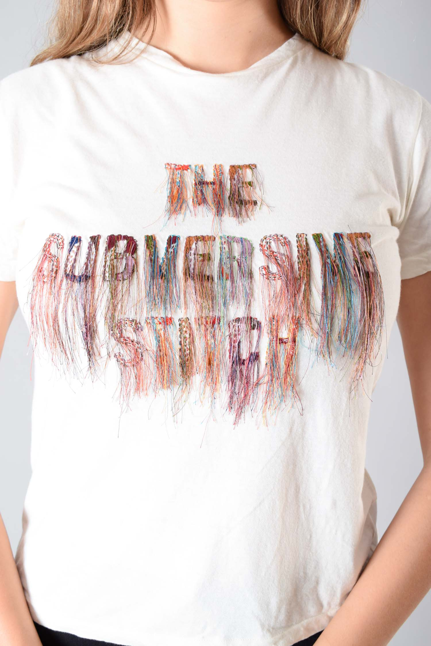 Christian Dior 2019 'The Subversive Stitch' Fringe T-Shirt Size XS