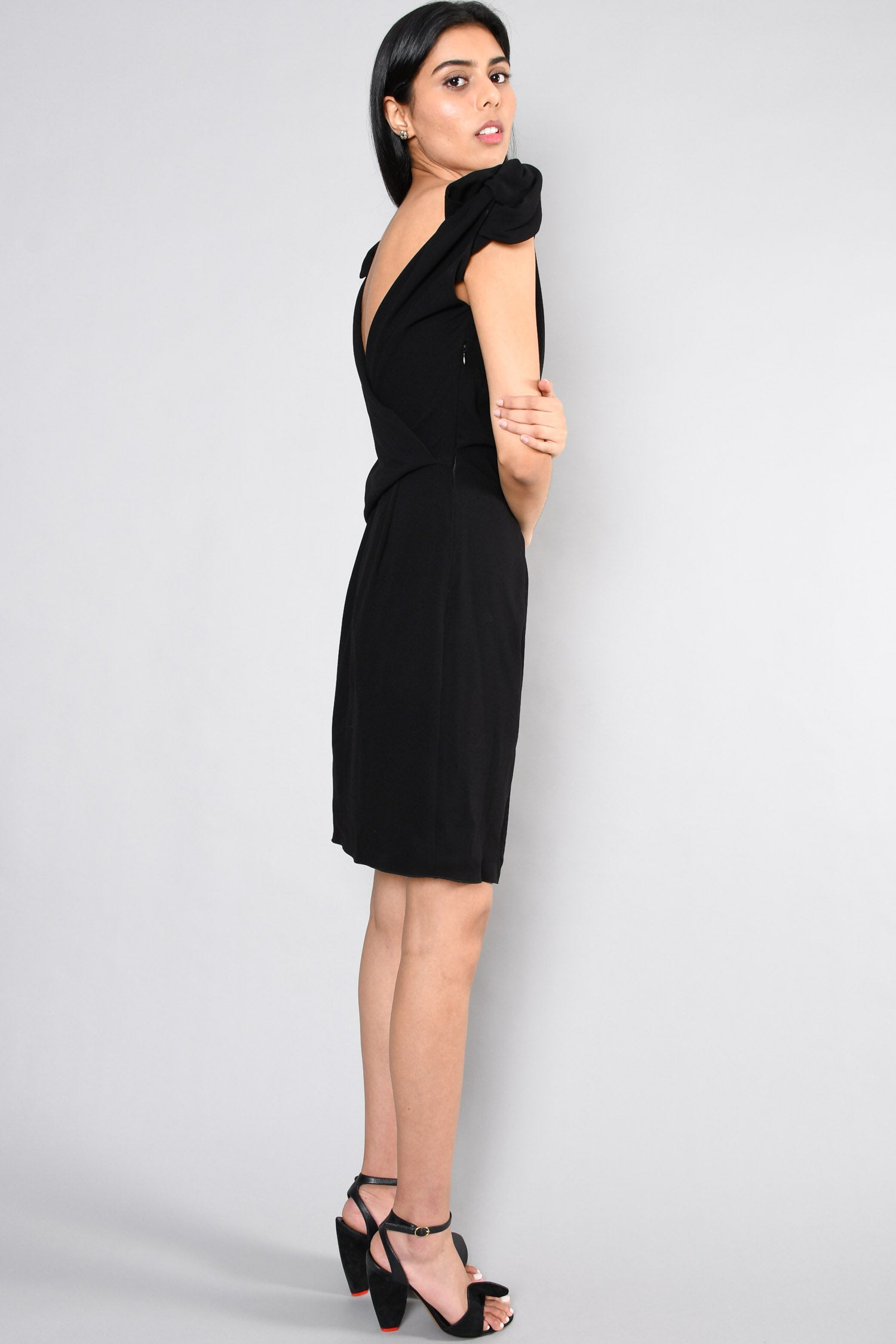 Prada Black Reversible Dress Size 38