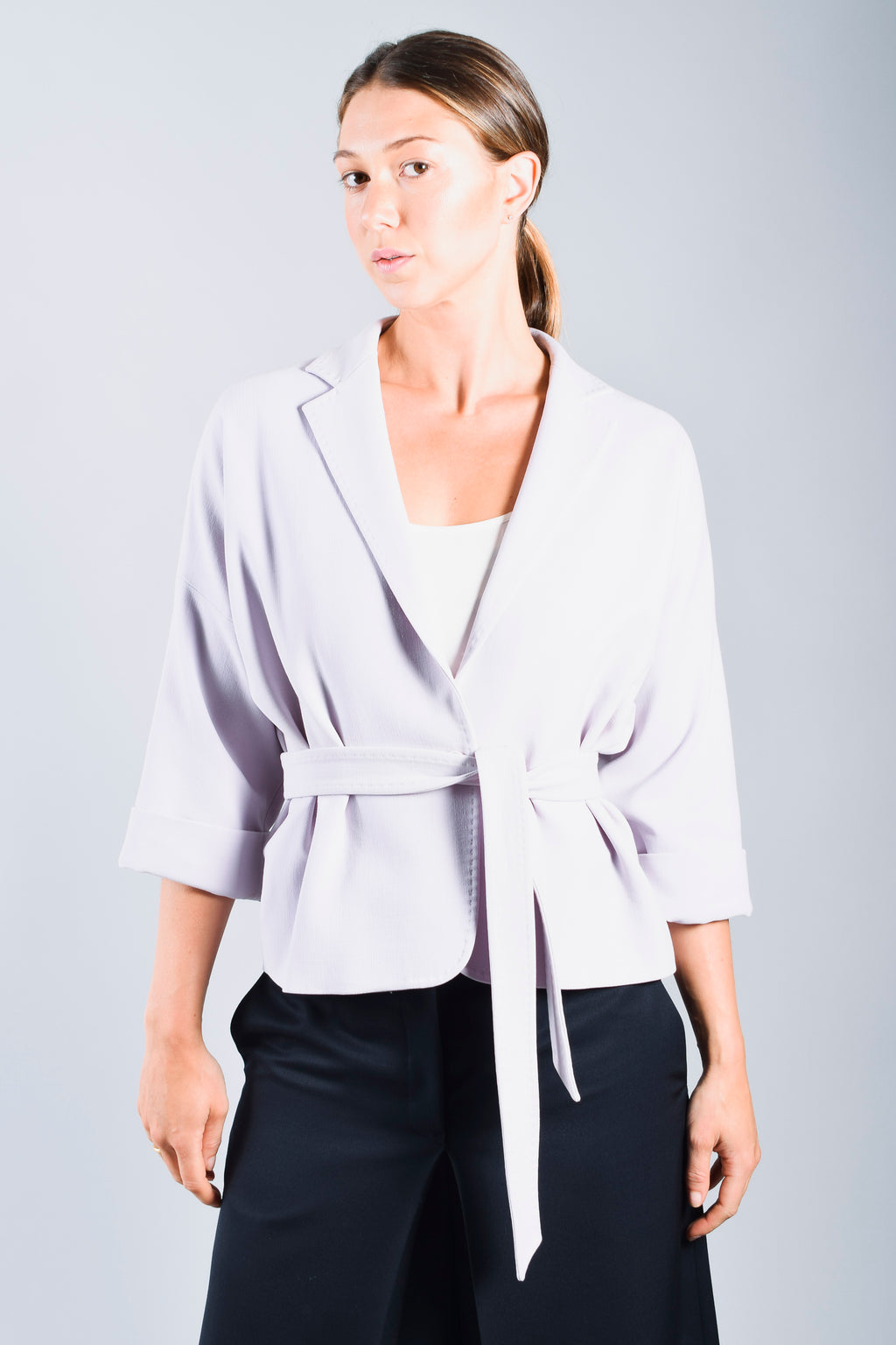 Max Mara Periwinkle Belted Blazer Size 8