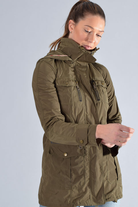 Burberry Brit Army Green Jacket Size 2