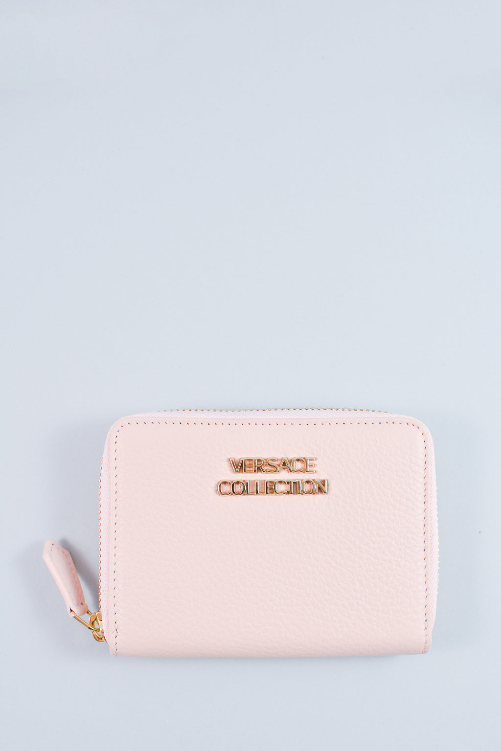Versace Collection Pink Saffiano Leather Small Wallet