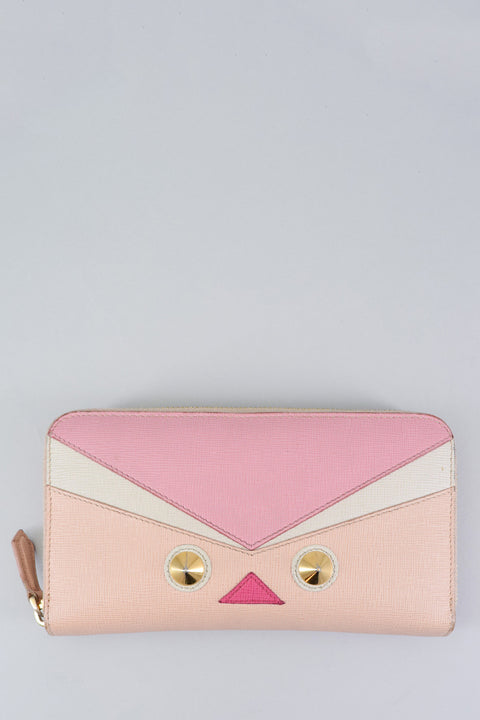 Fendi Pink Bird Eye Monster Wallet