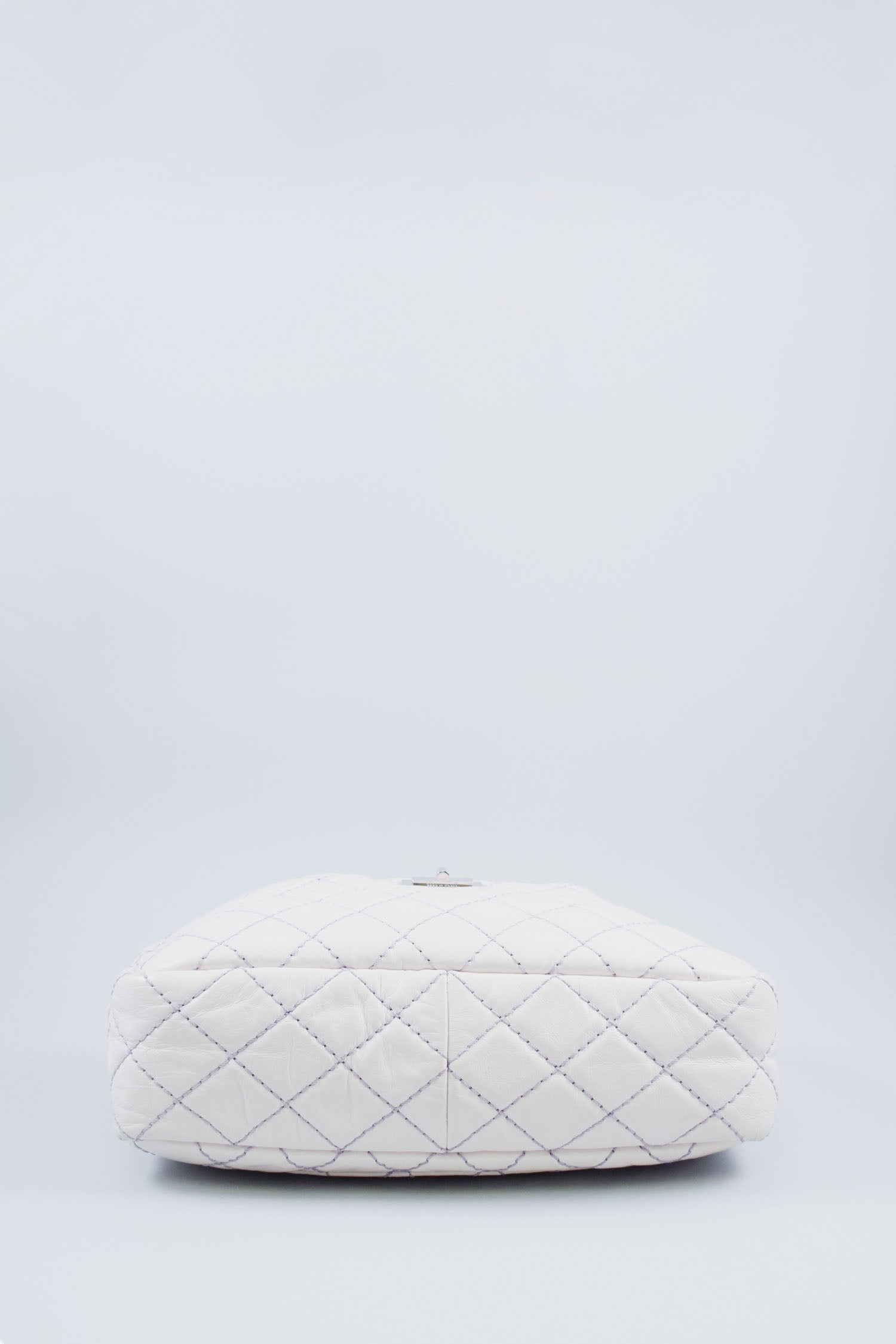 Chanel White Leather Reissue Camera Bag