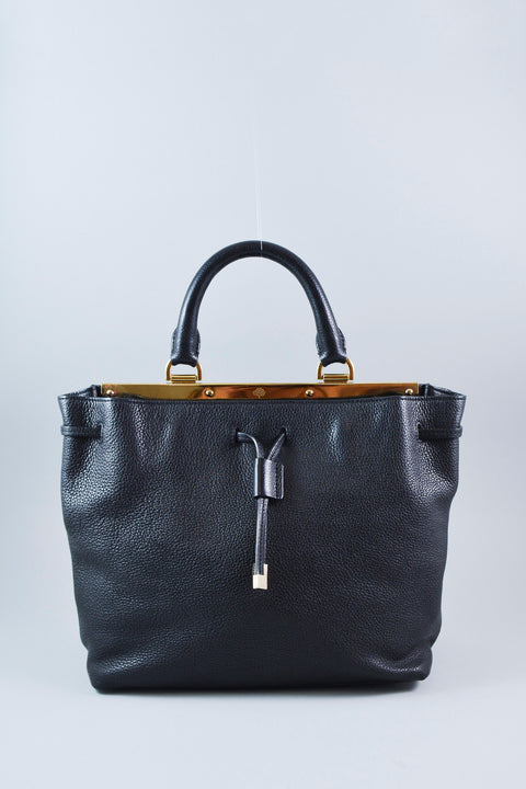 Mulberry Black Kensington w/ gold details
