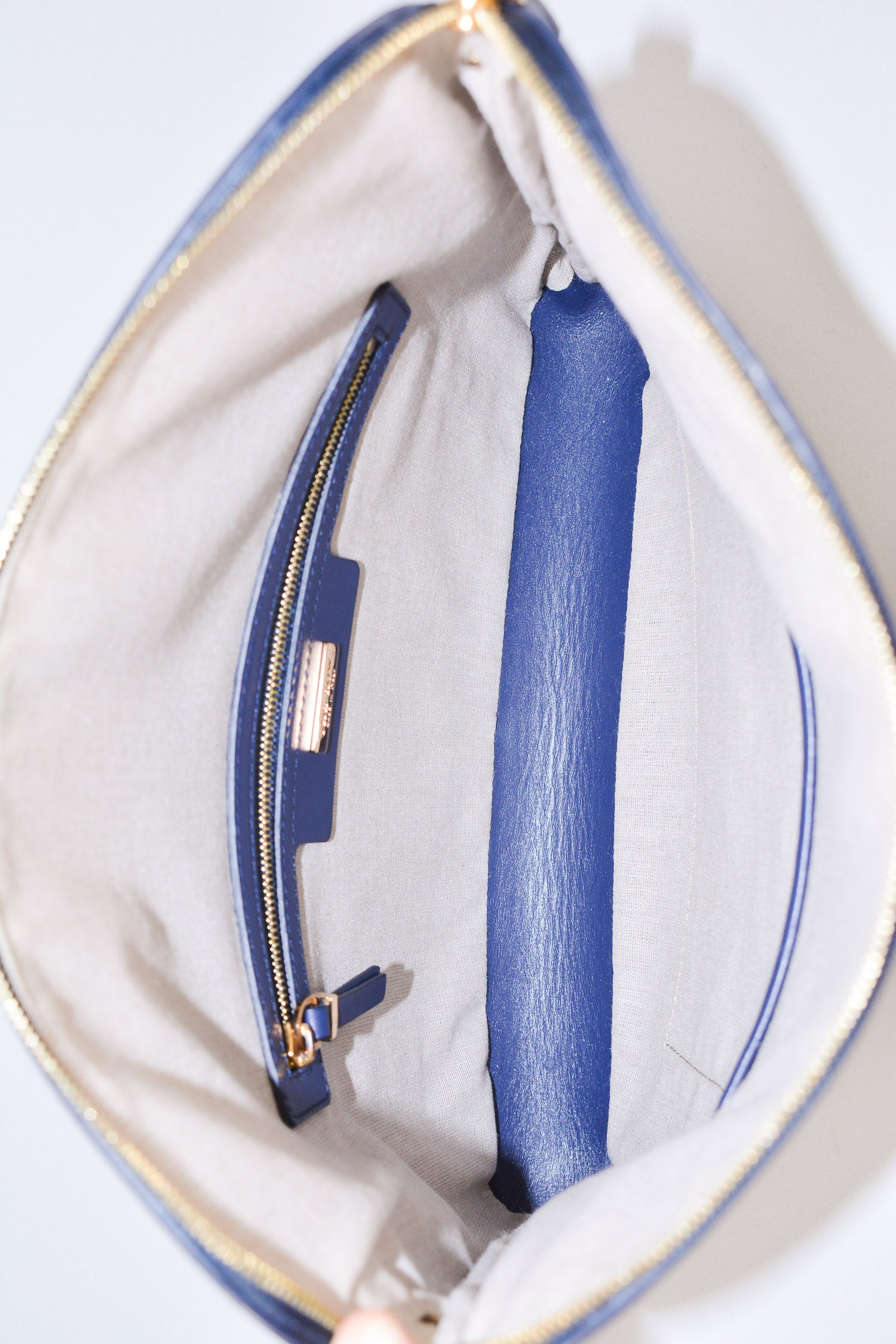 The Row Navy Leather Bag
