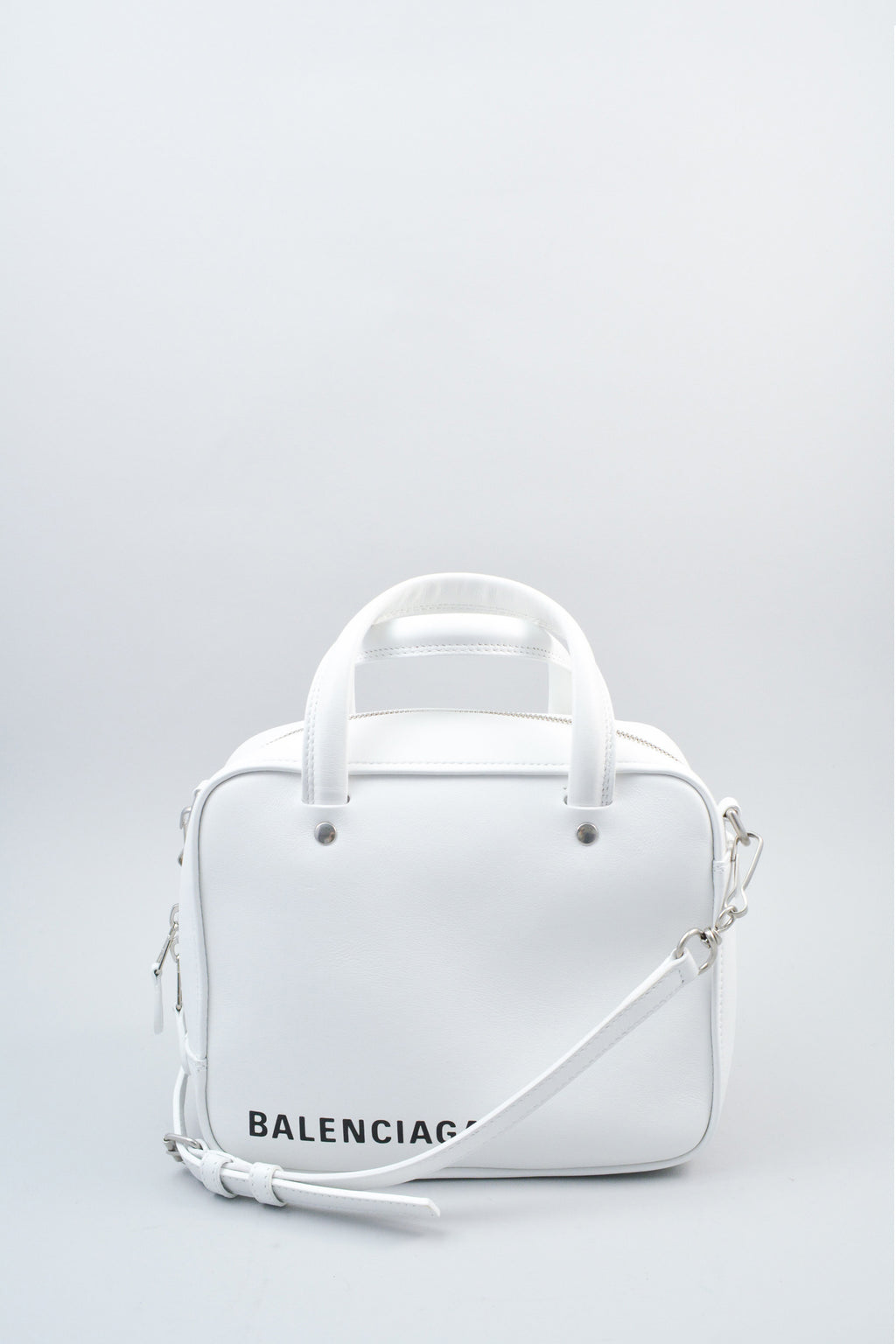 Balenciaga White Triangle Square Bag