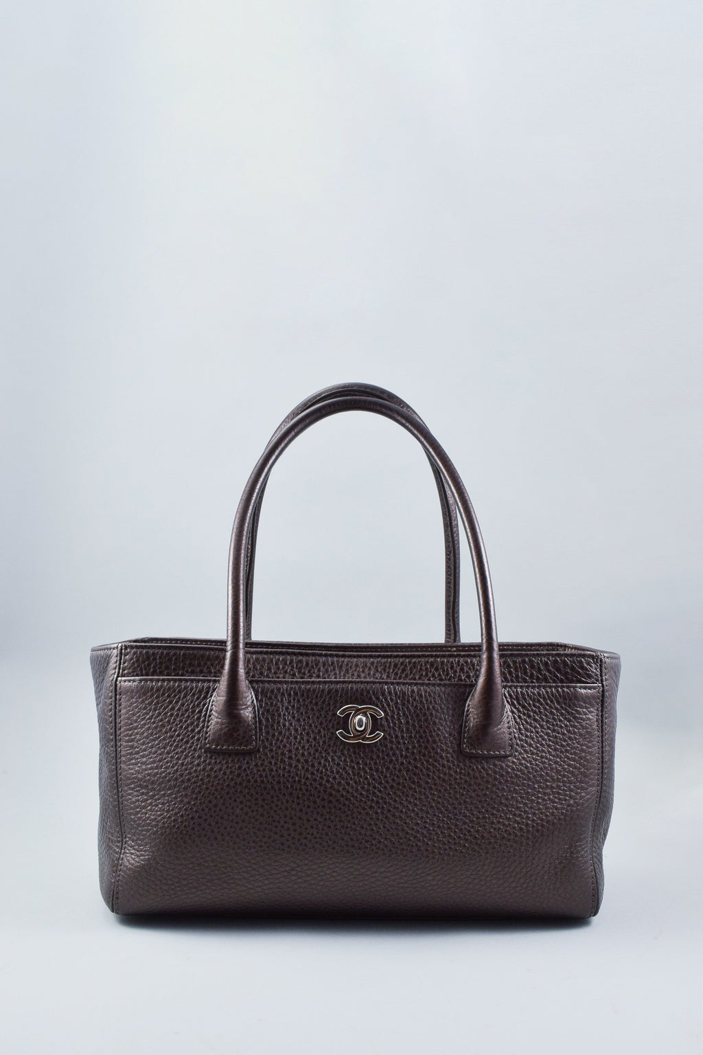 Chanel Metallic Brown Small Executive Cerf Tote