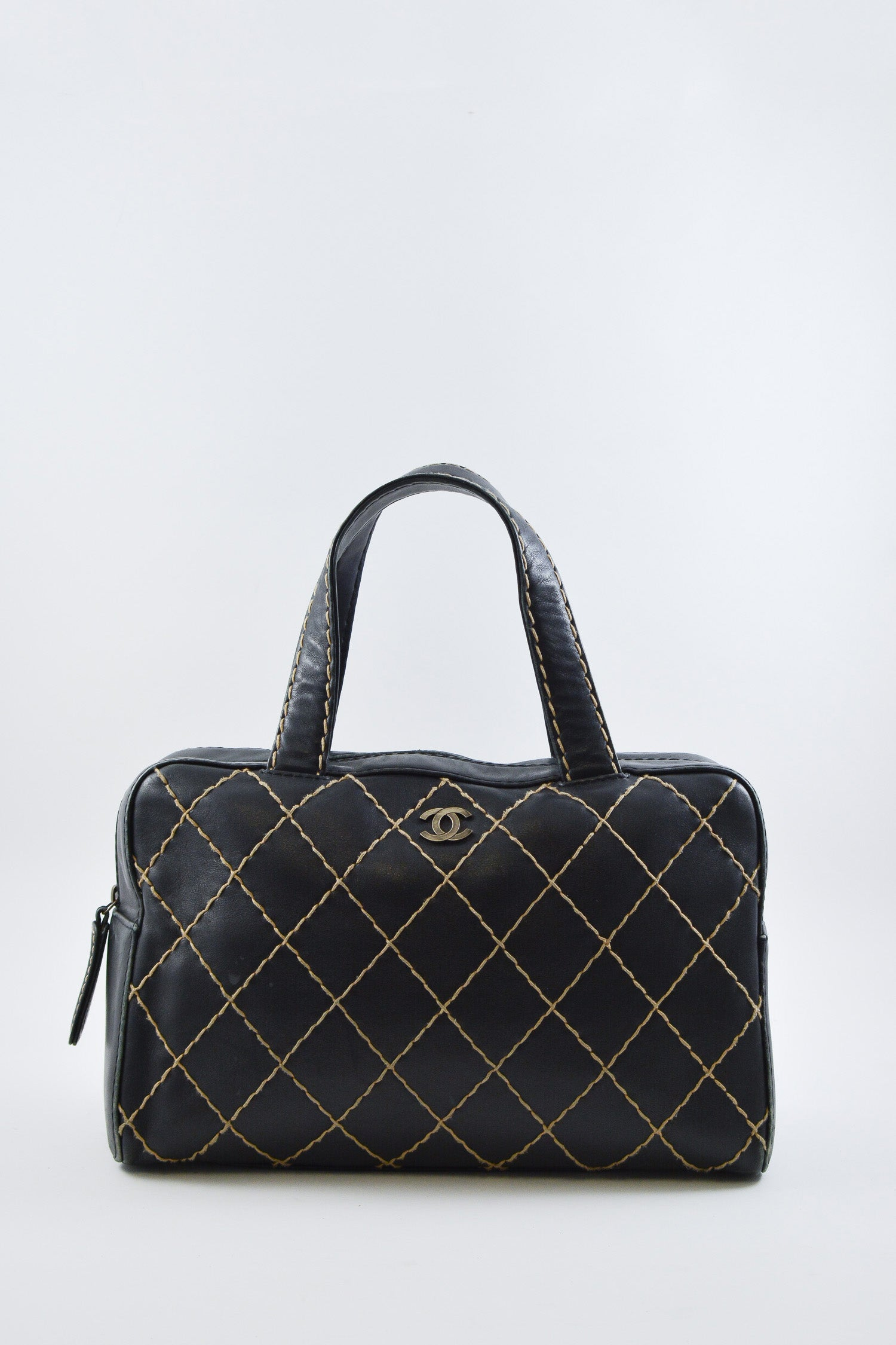 Chanel Black Large Quilted Camera Bag