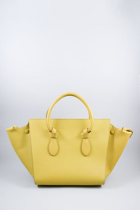Celine Mustard Grained Leather Small Tie Tote