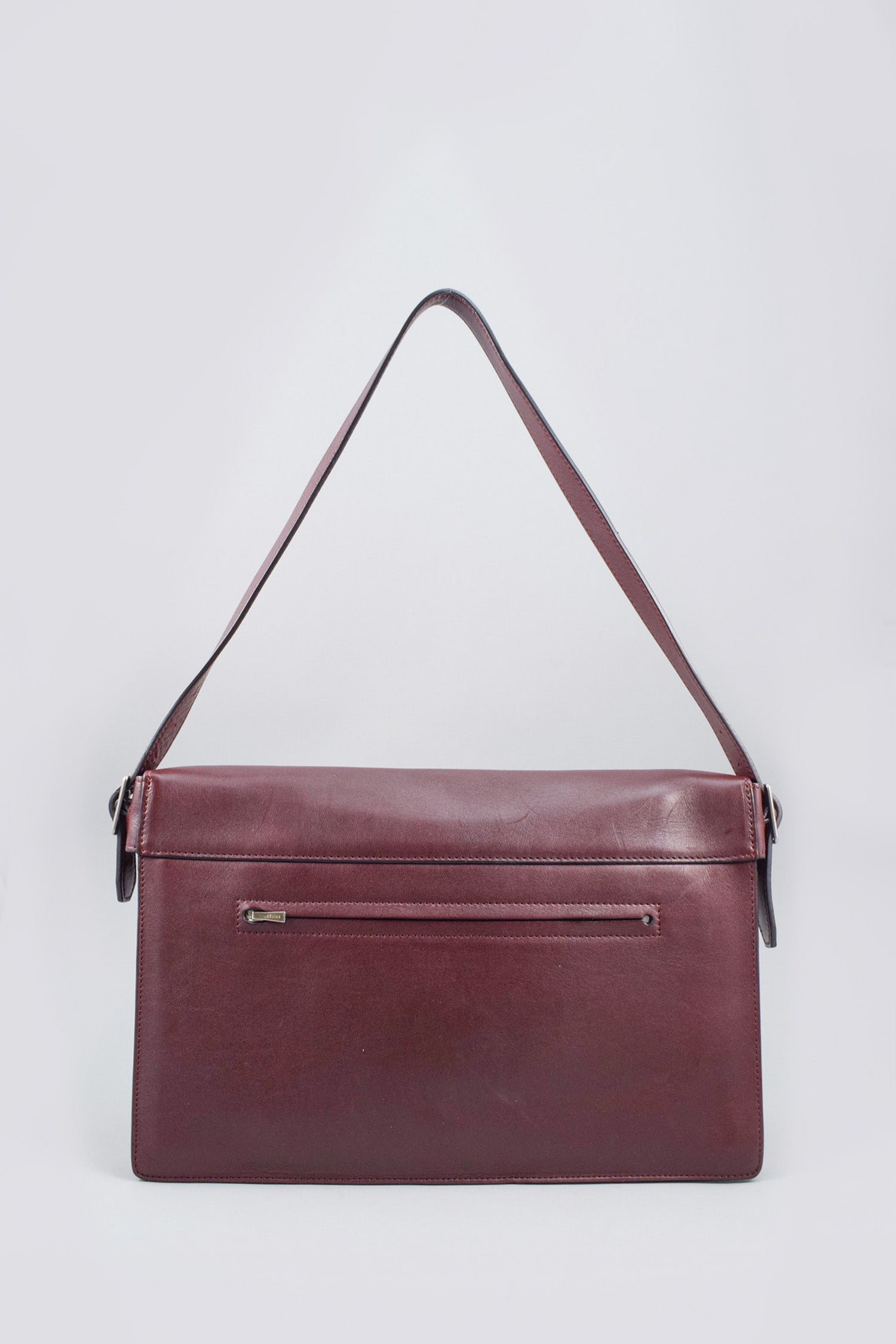 Celine Burgundy/Green Leather Medium Diamond Shoulder Bag