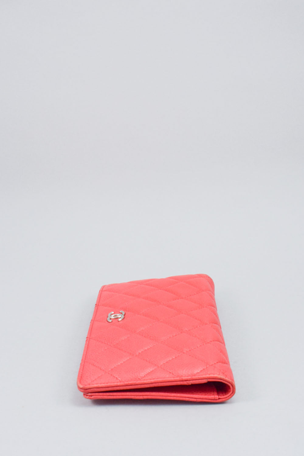 Chanel Red Caviar Long Wallet