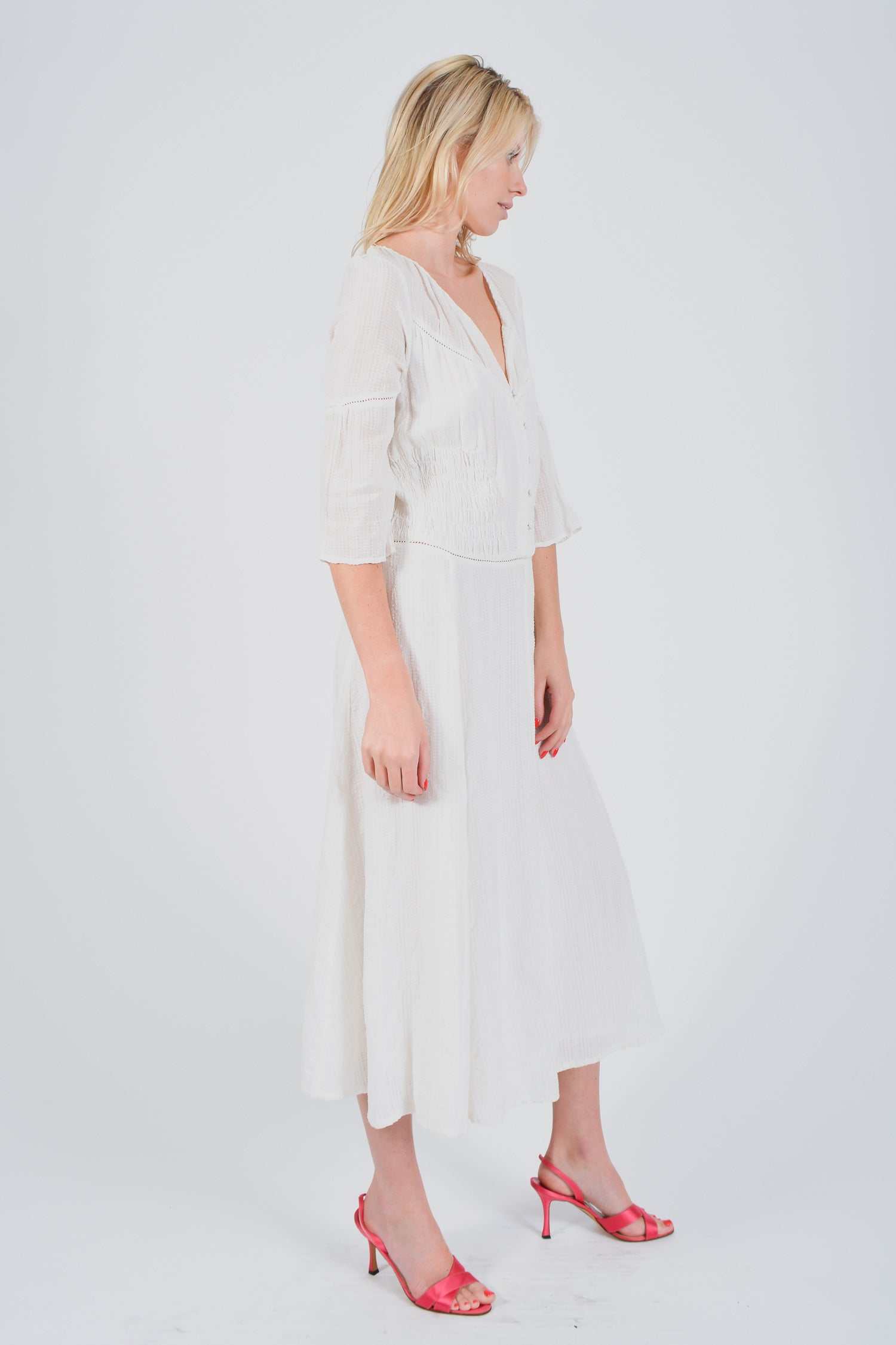Maje White Long Dress Size 1
