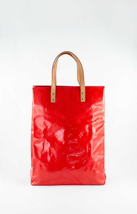 Louis Vuitton Orange Vernis Reade MM Tote