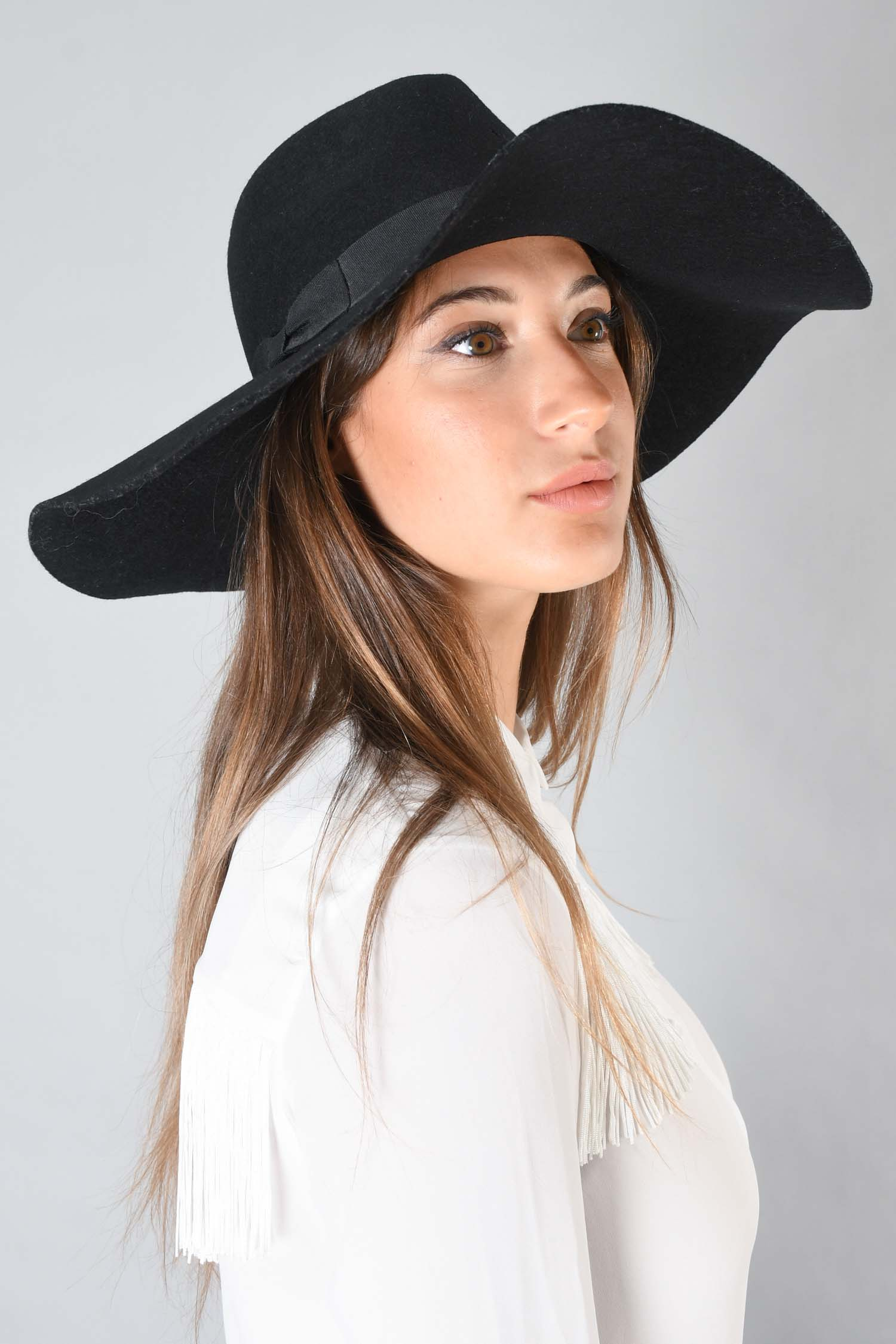 Lack of Color Black Large Hat