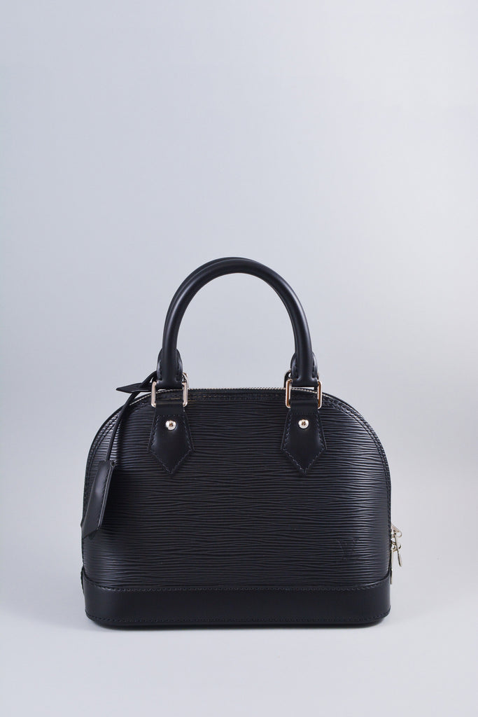 Louis Vuitton Black Epi Alma BB