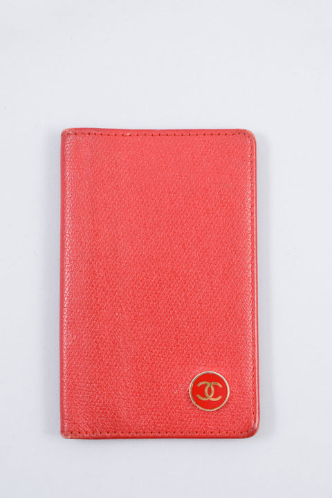Chanel Red Leather Card Holder