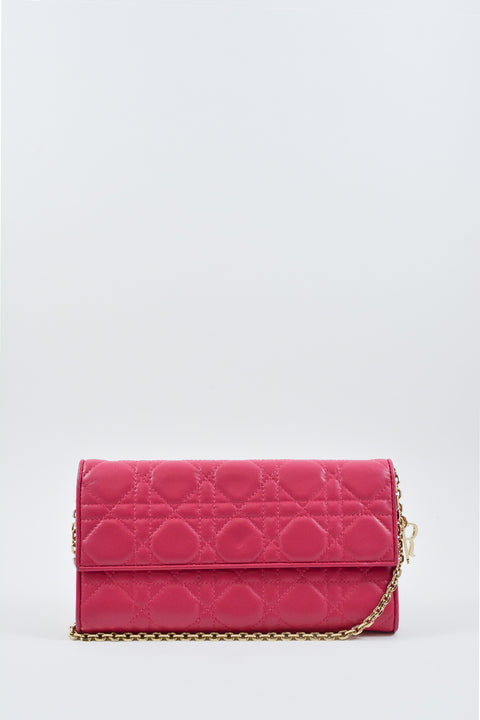Dior Pink Lady Dior Wallet on Chain