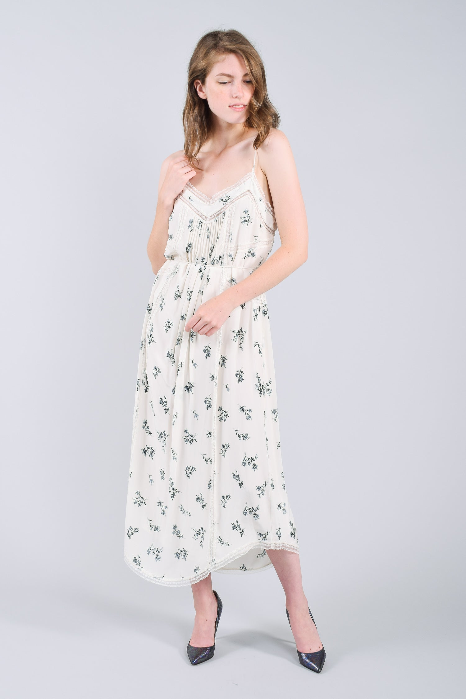 Zimmermann White and Blue Floral Dress Size 0