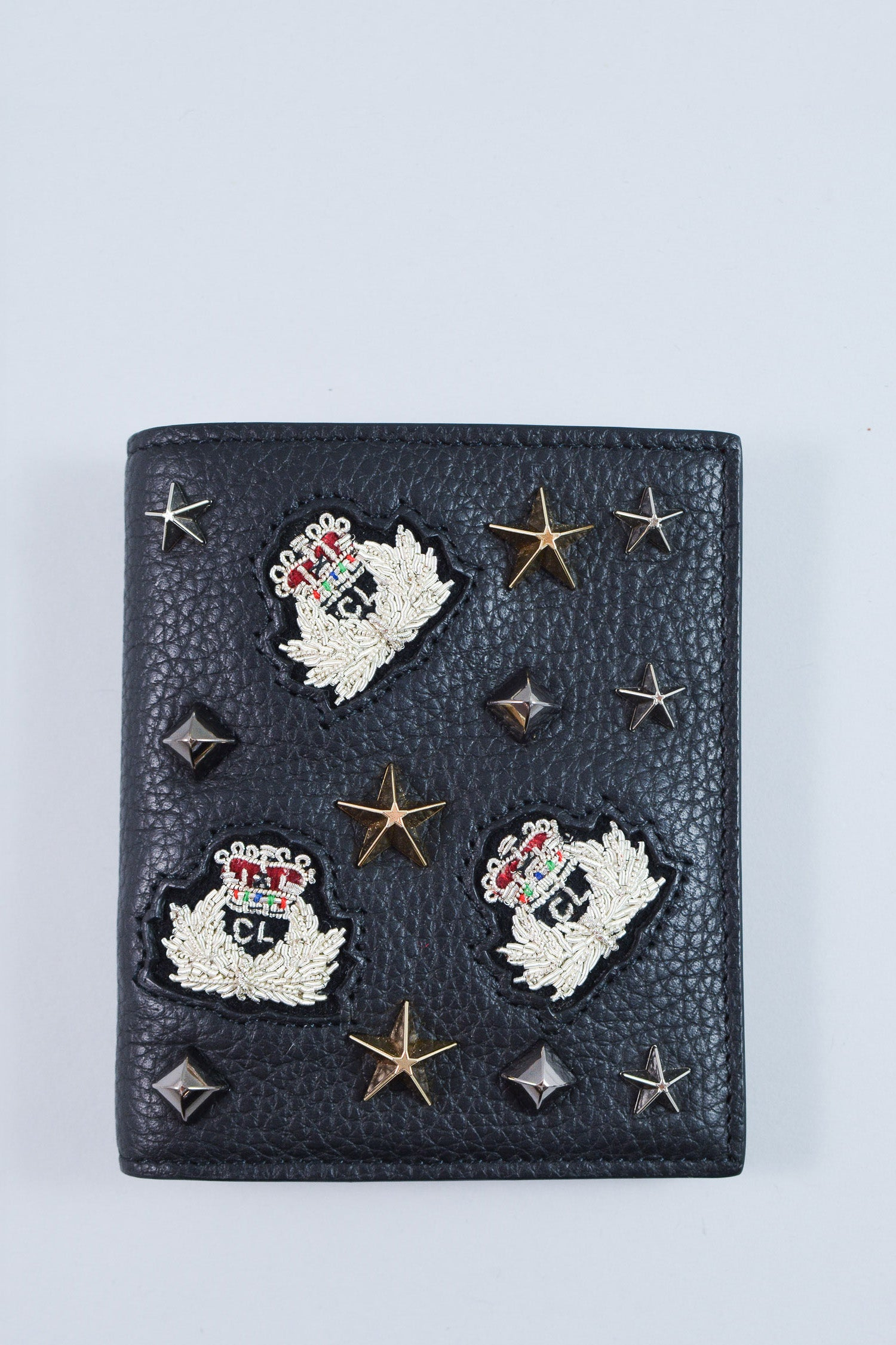 Christian Louboutin Women's Leather Studded (Bi-fold) Wallet