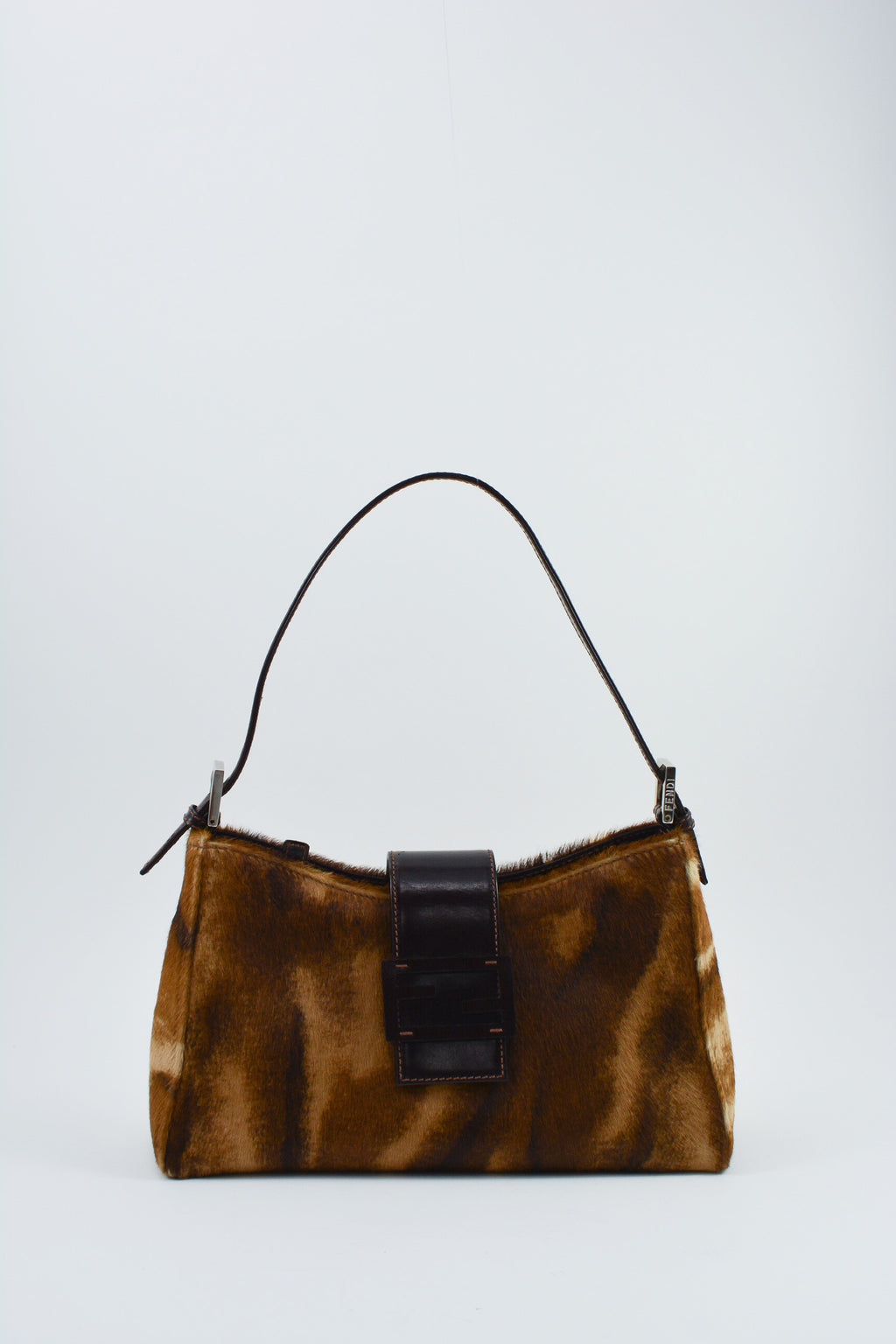 Fendi Brown Ponyhair Baguette