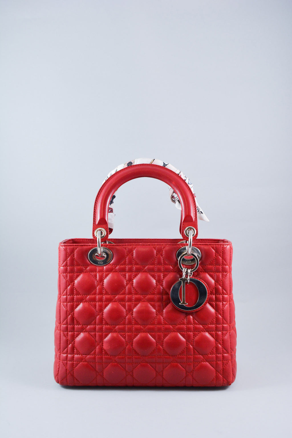 Dior Lady Red Leather Medium