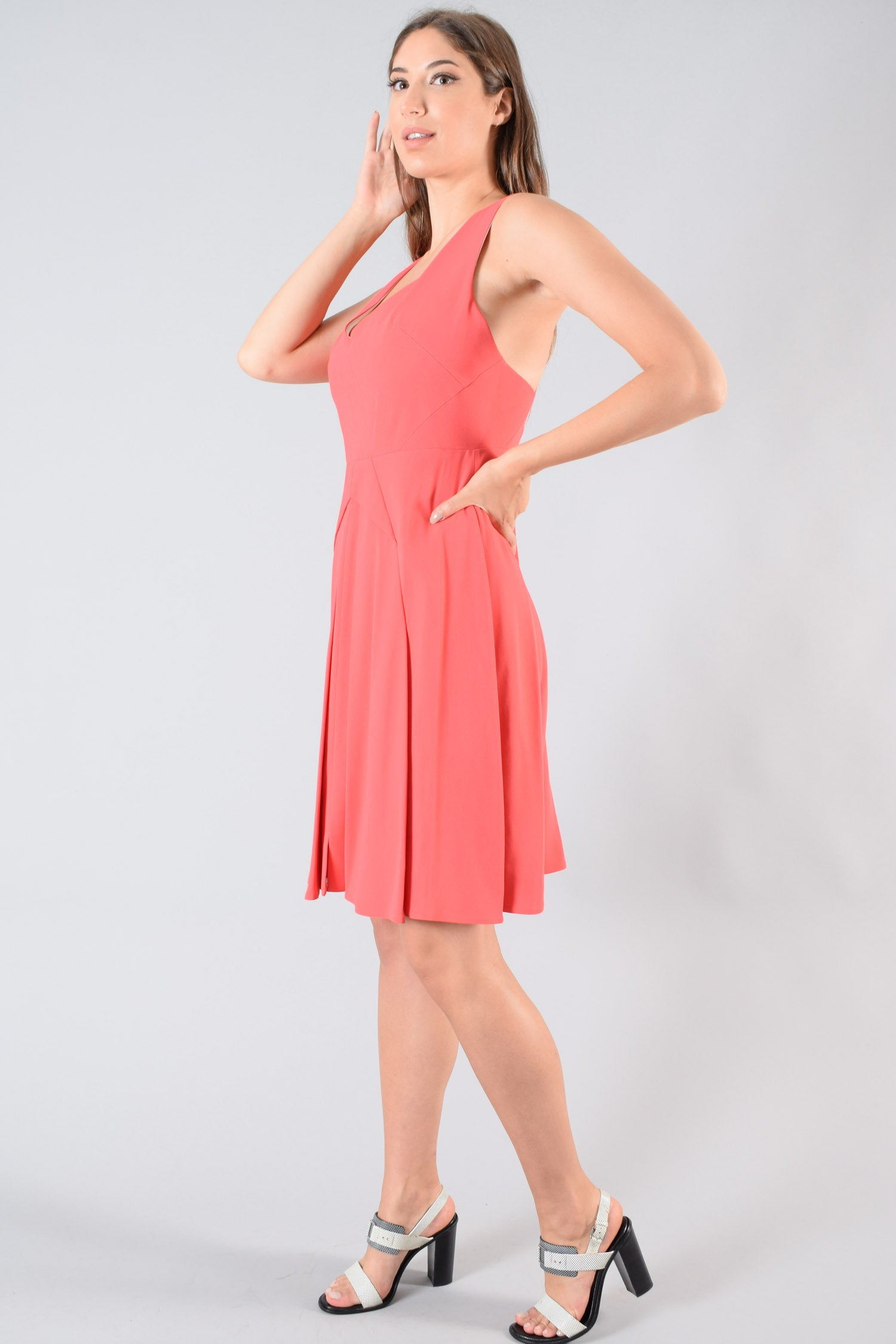 Roland Mouret Coral Sleeveless Dress Size 12 US