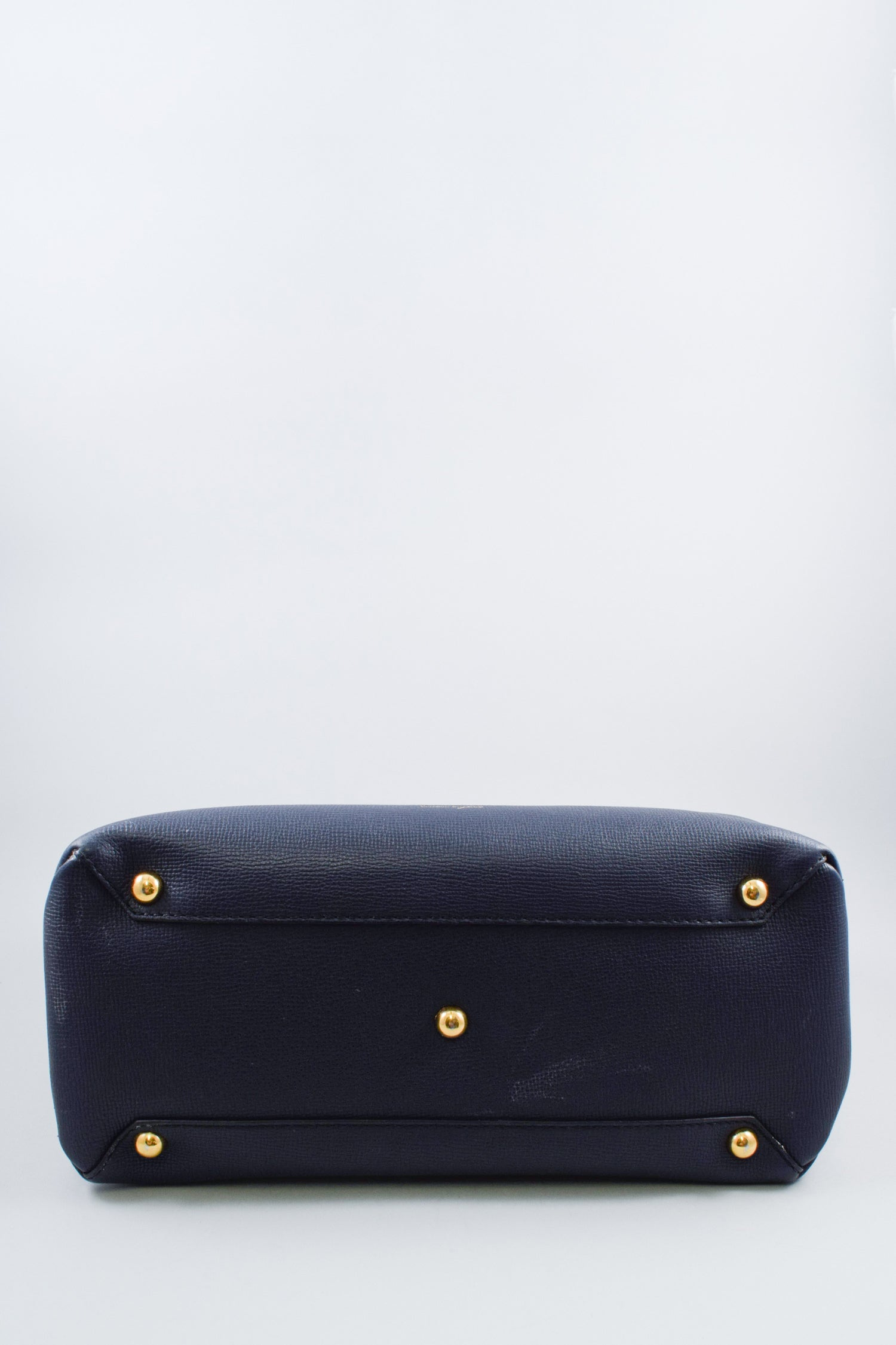 Burberry Navy House Check Flap Tote