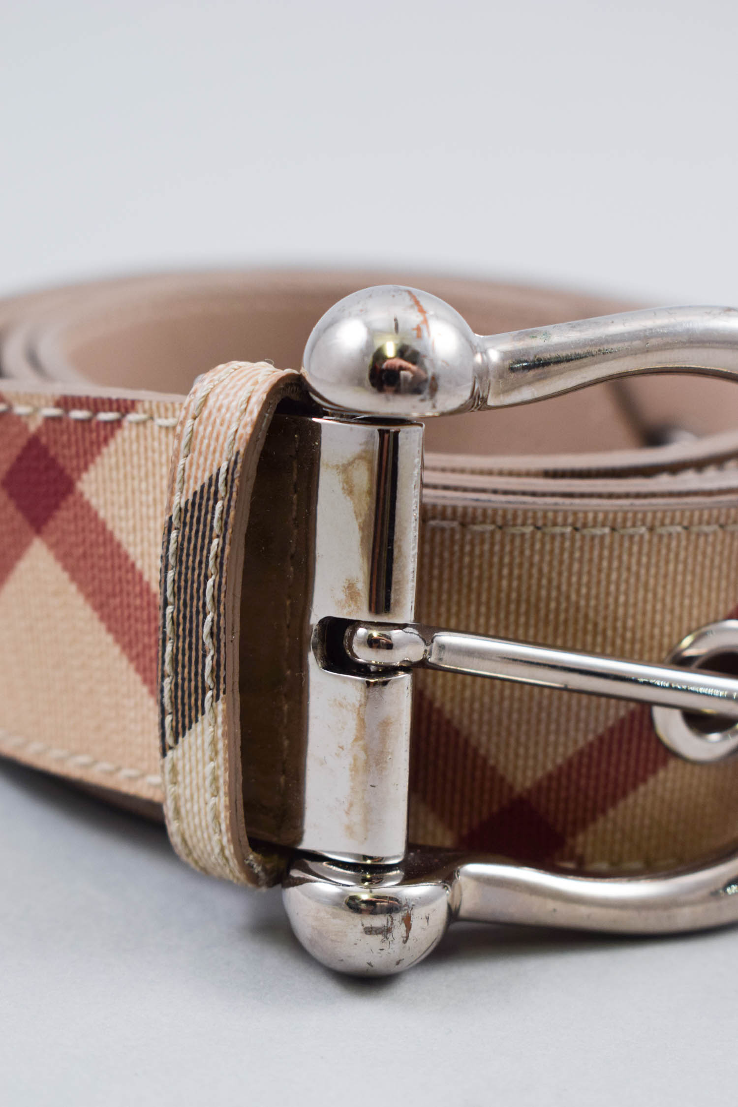 Burberry Check Belt Size 40