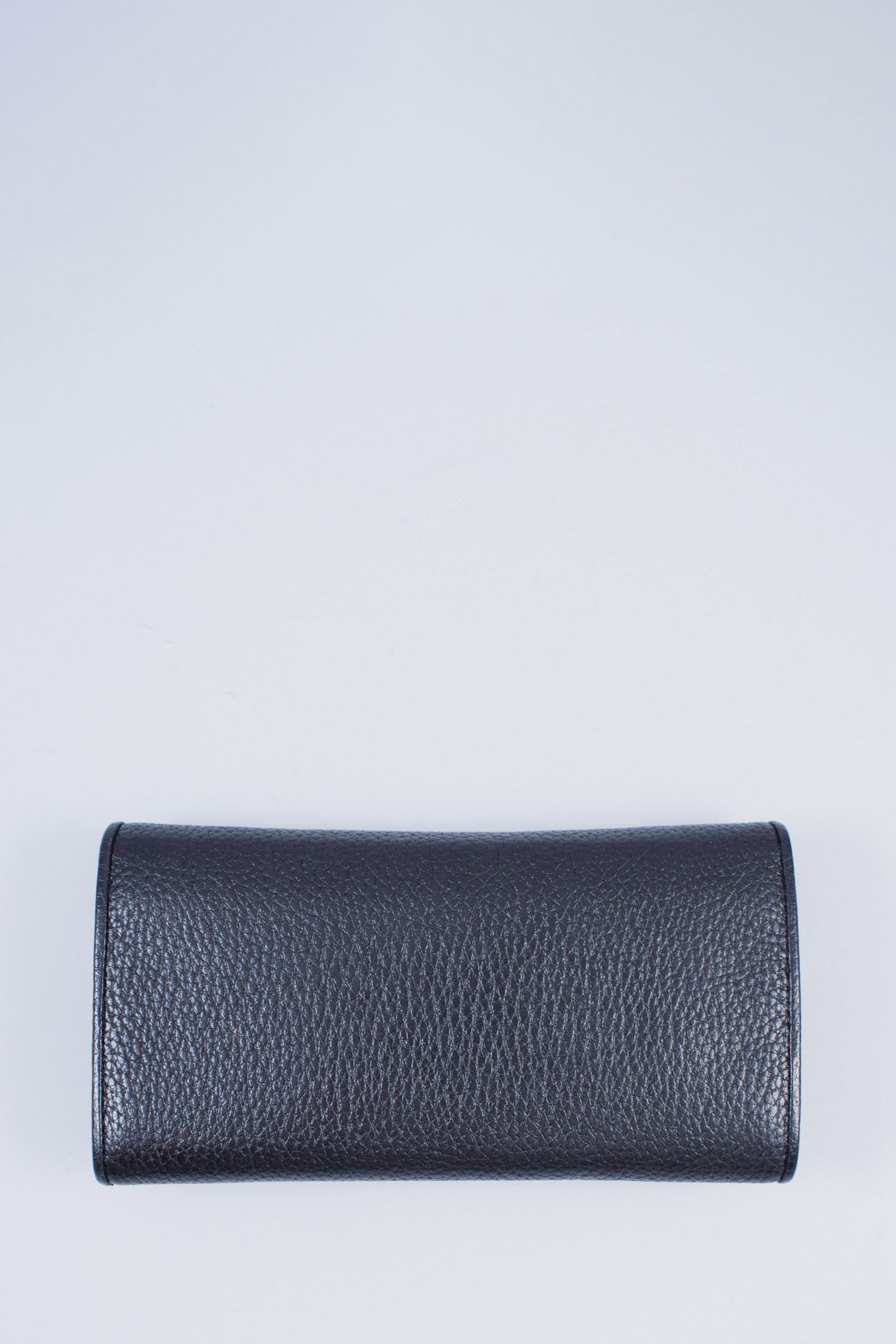 MCM Black Leather Long Wallet