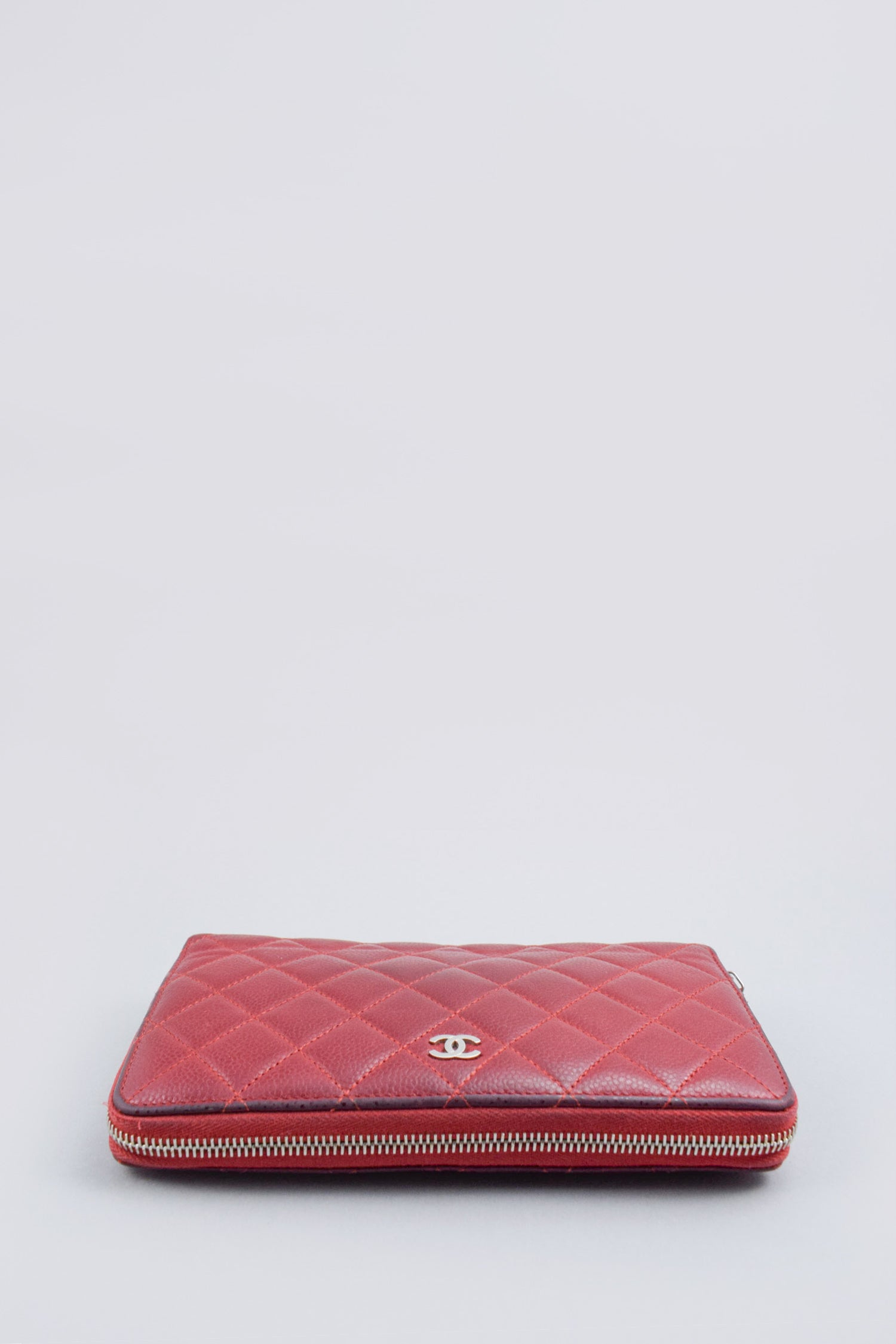 Chanel Burgundy Quilted Large Organizer Wallet